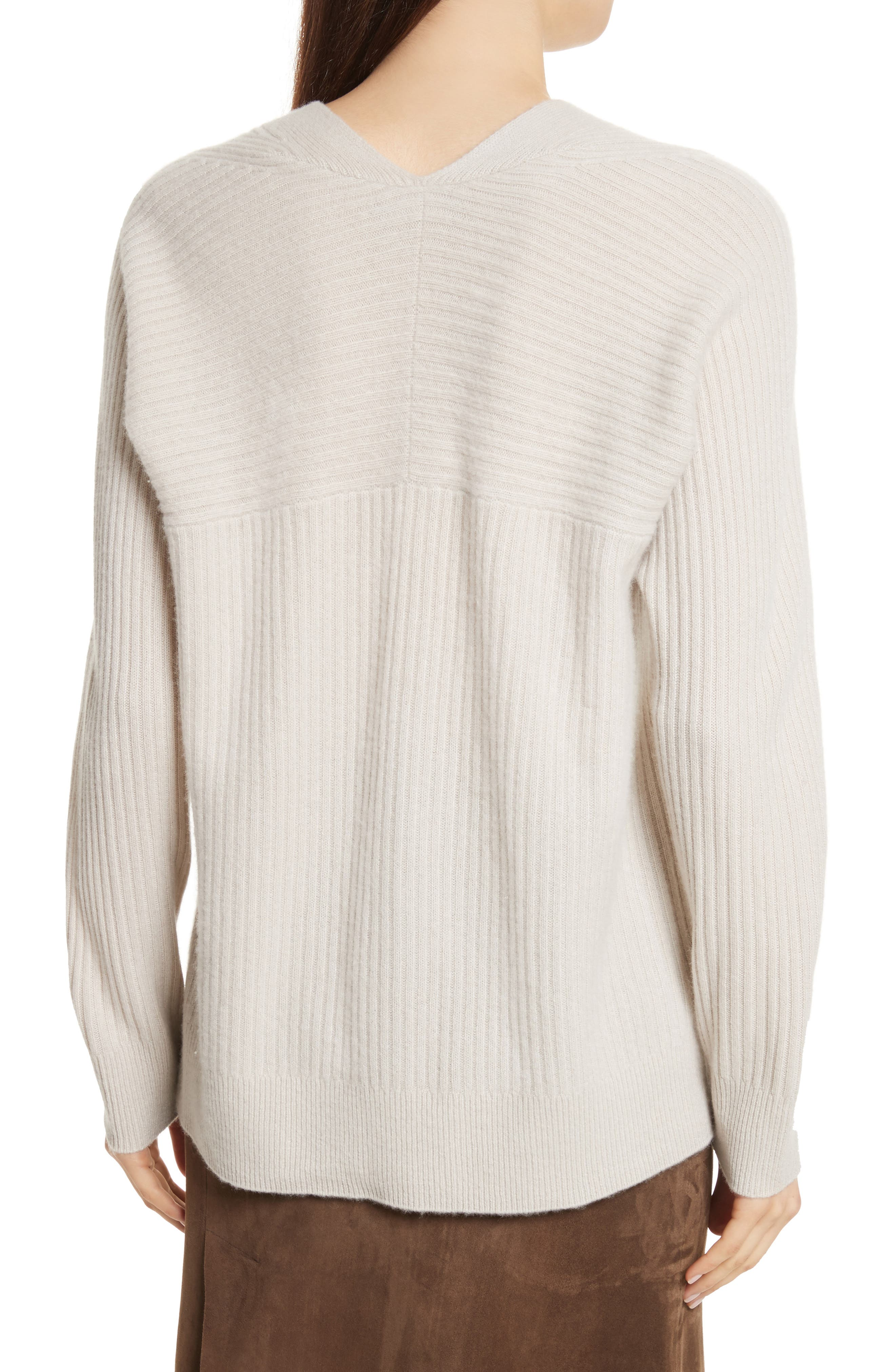 Wool Blend Raglan V-Neck Sweater,                             Alternate thumbnail 5, color,