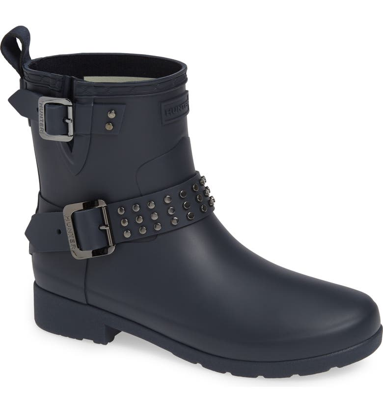 Hunter REFINED STUD WATERPROOF BIKER BOOT