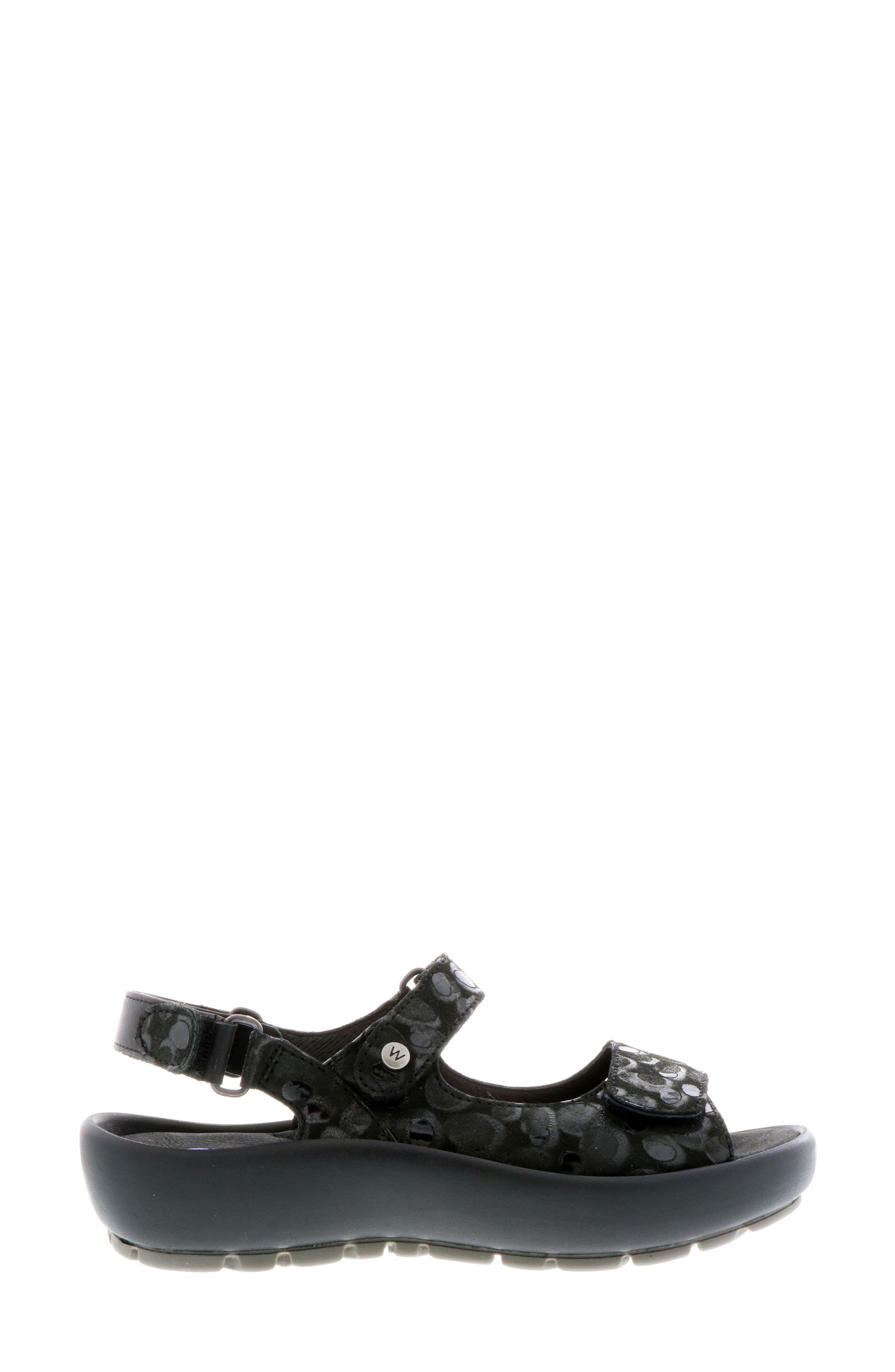 Rio Sandal,                             Alternate thumbnail 3, color,                             BLACK CIRCLE PRINT