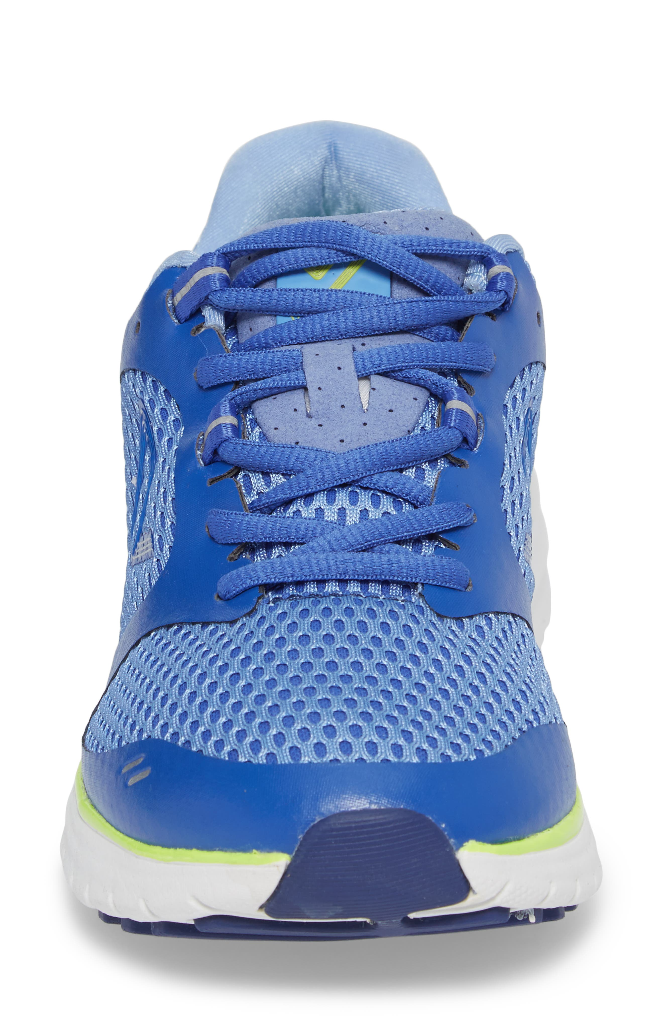 Elation Sneaker,                             Alternate thumbnail 4, color,                             BLUE/ YELLOW