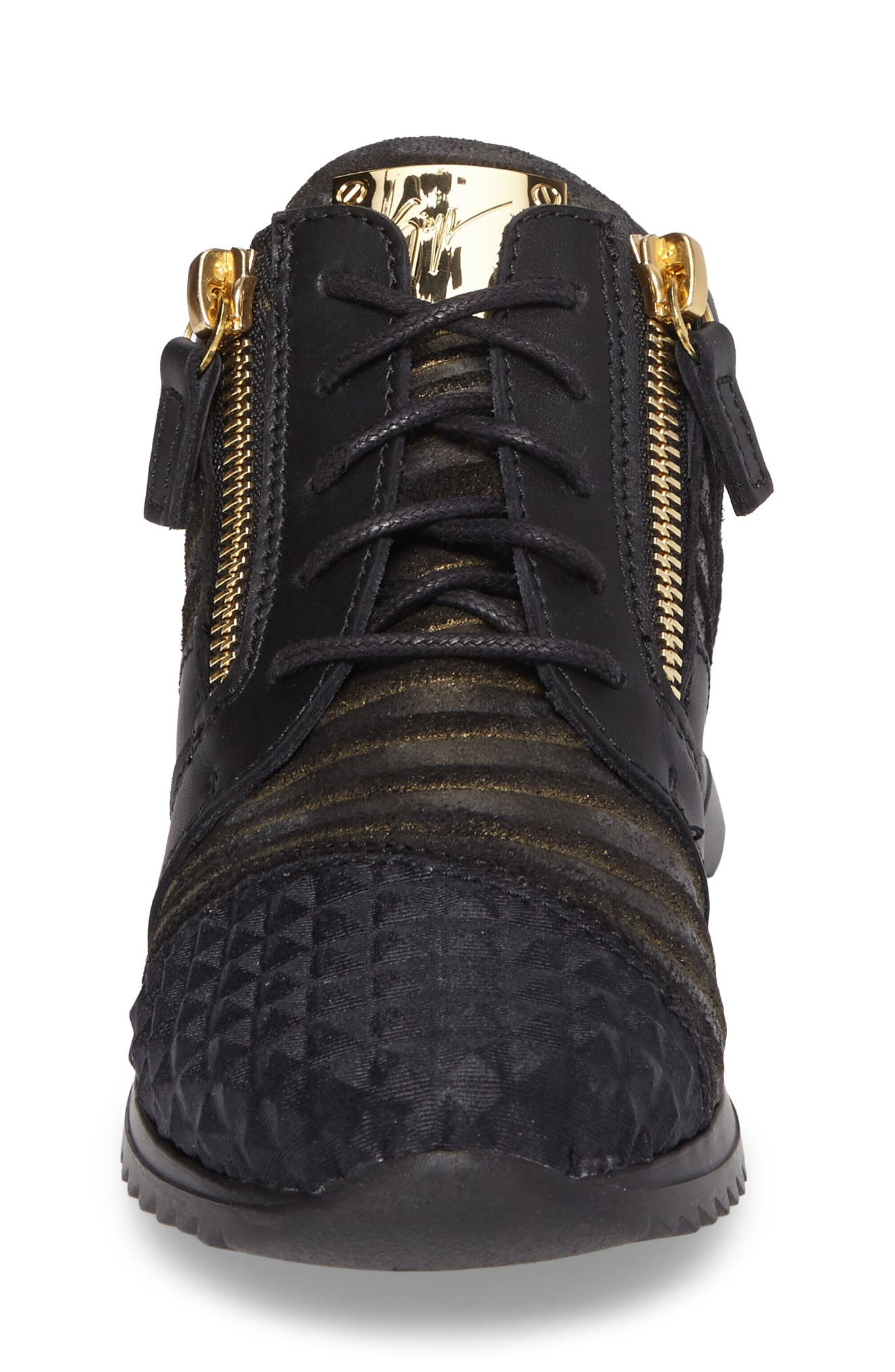 Iperstud Embossed Sneaker,                             Alternate thumbnail 4, color,                             001