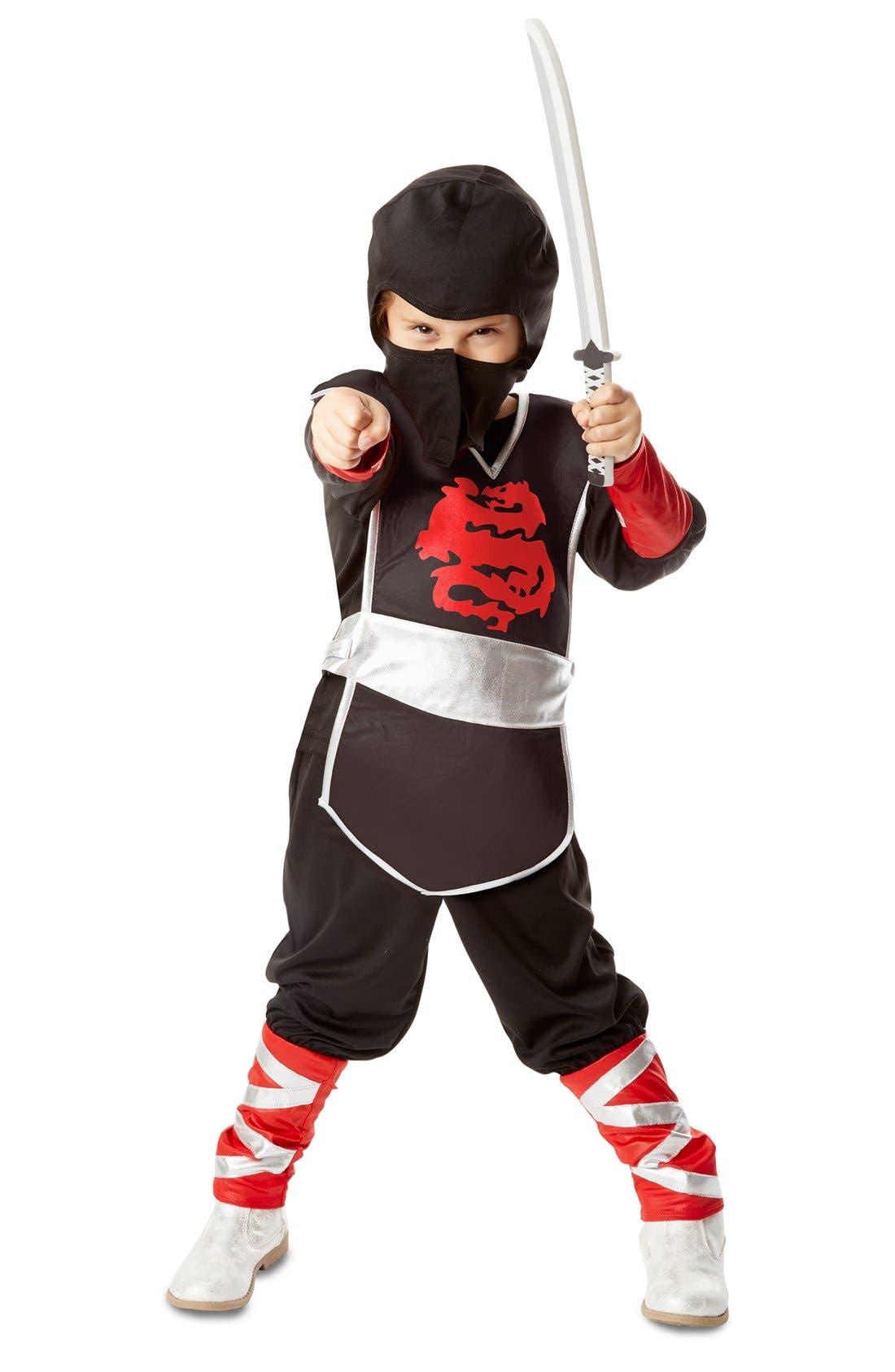 Ninja Costume Set,                             Main thumbnail 1, color,                             BLACK