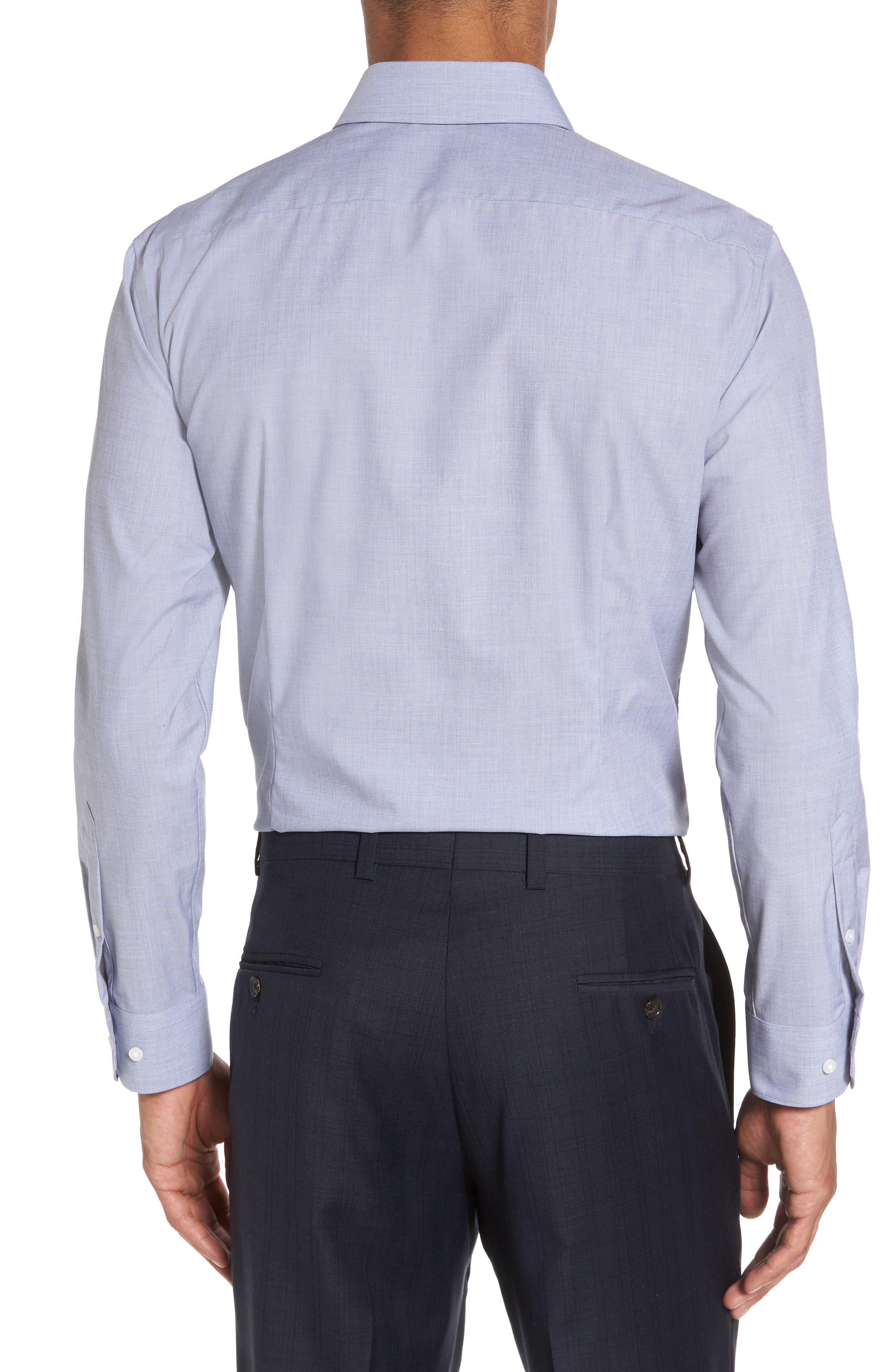 Extra Trim Fit Stretch No-Iron Dress Shirt,                             Alternate thumbnail 2, color,                             401