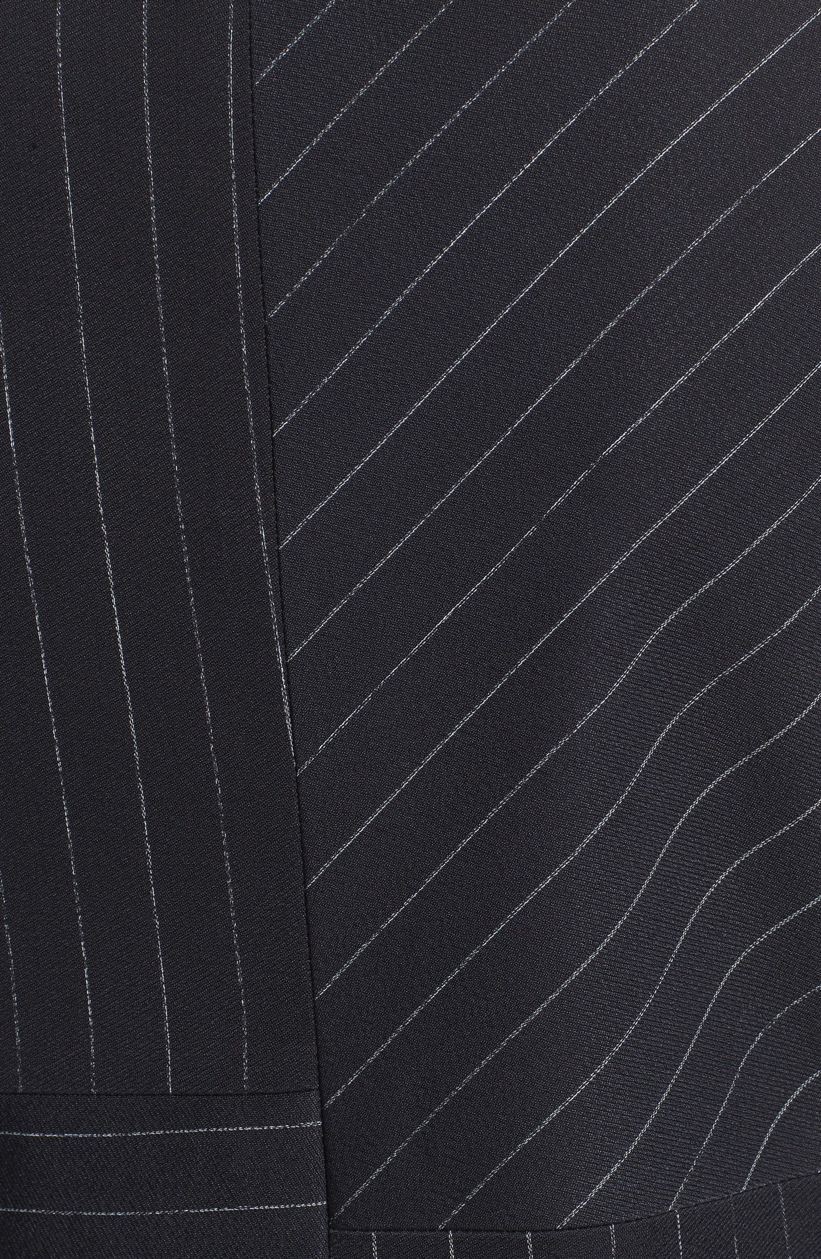 Pinstripe Stretch Jacket,                             Alternate thumbnail 6, color,                             001