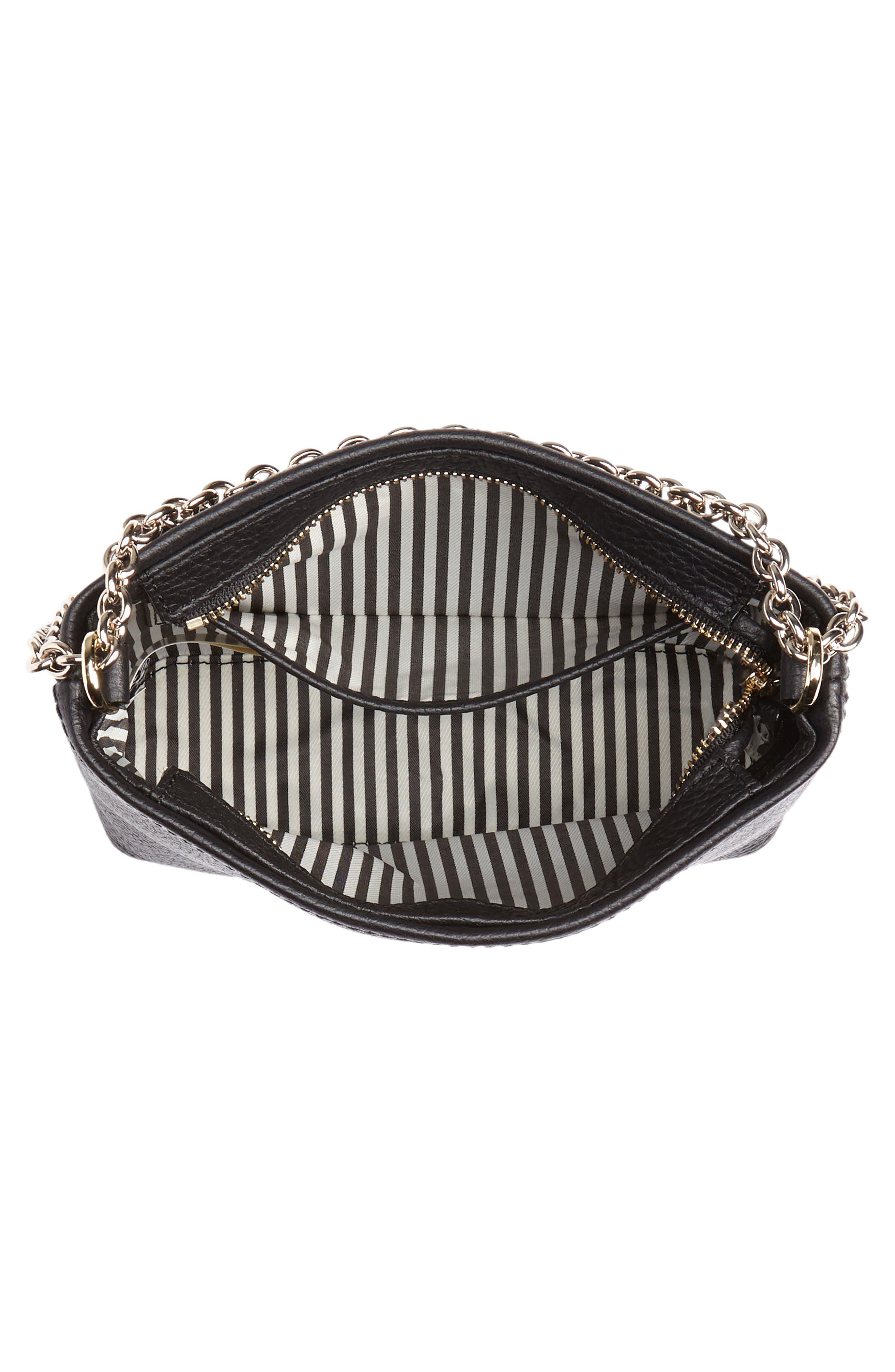 jackson street - ellery leather crossbody bag,                             Alternate thumbnail 4, color,                             BLACK