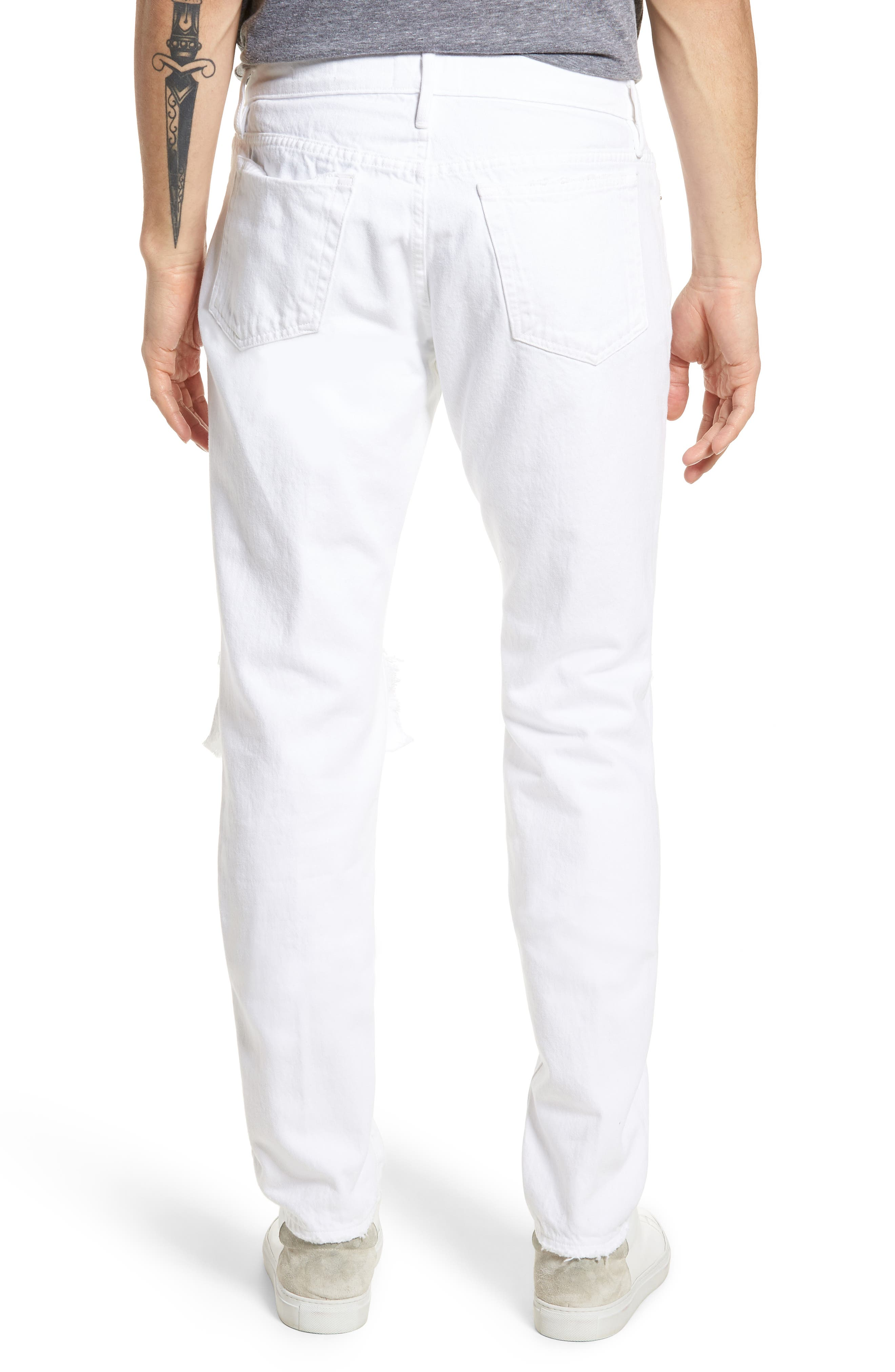 L'Homme Skinny Fit Jeans,                             Alternate thumbnail 2, color,                             WHITE OUT