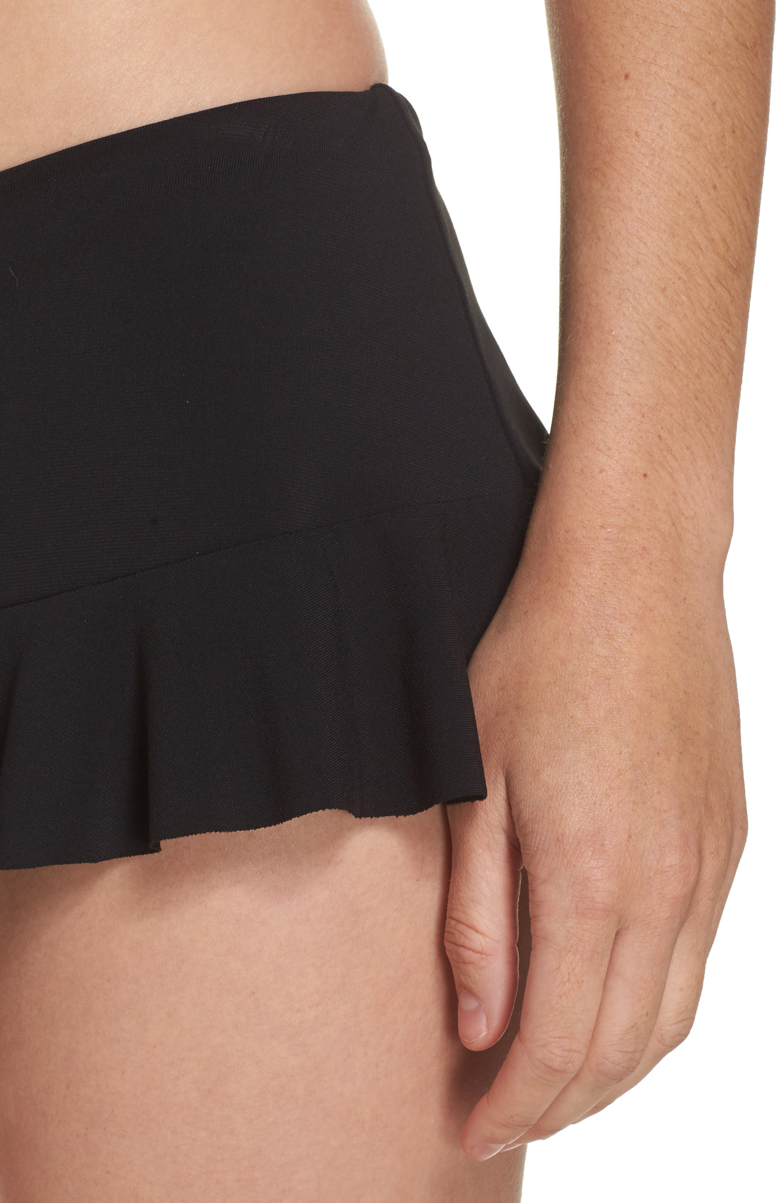 Lina Ruffle Swim Skirt,                             Alternate thumbnail 4, color,