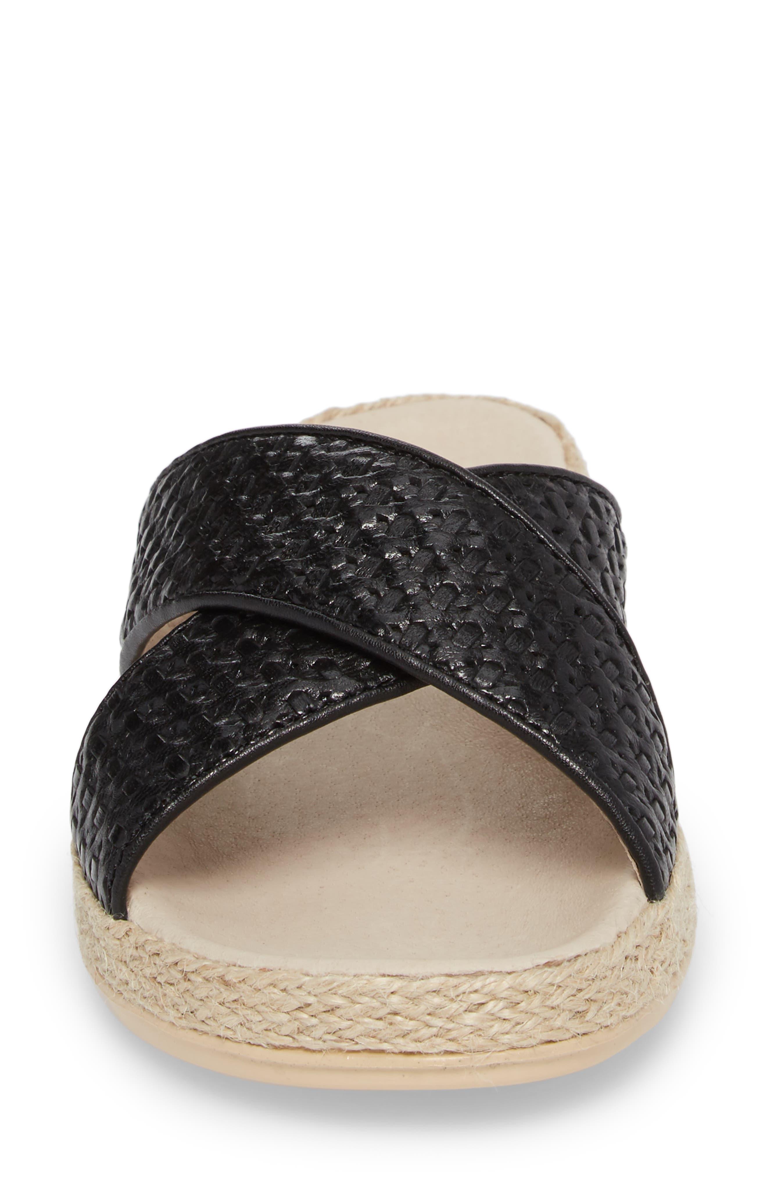 Glencairn Sandal,                             Alternate thumbnail 4, color,                             BLACK LEATHER