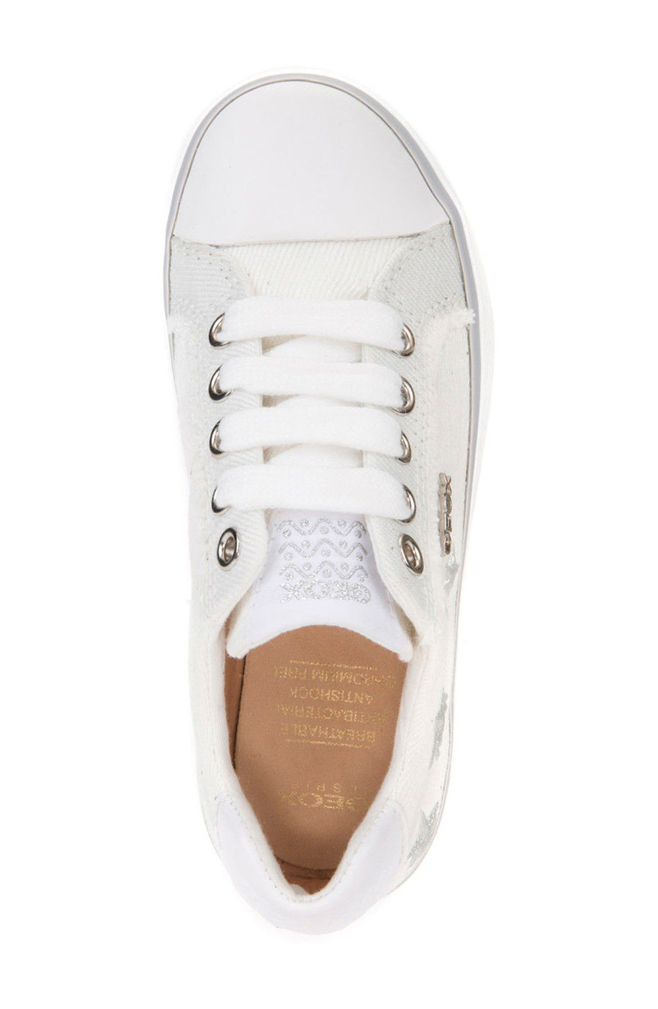 Kilwi Low Top Sneaker,                             Alternate thumbnail 5, color,                             WHITE