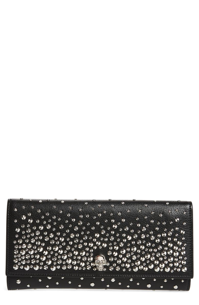 7eaa01e8ca Alexander McQueen Studded Leather Travel Wallet
