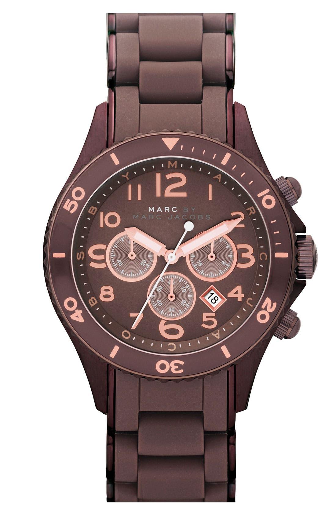 'Rock' Chronograph Silicone Bracelet Watch, 40mm,                             Main thumbnail 8, color,
