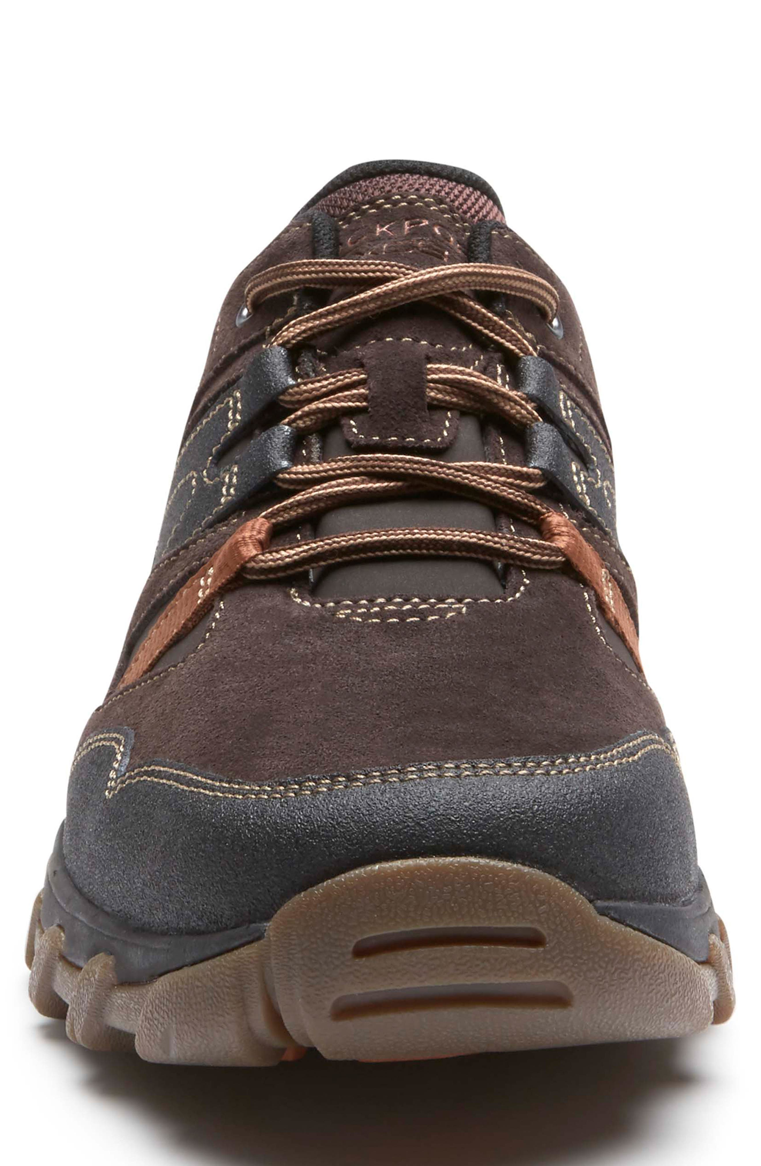 Cold Springs Plus Lace-Up Sneaker,                             Alternate thumbnail 4, color,                             DARK BROWN LEATHER