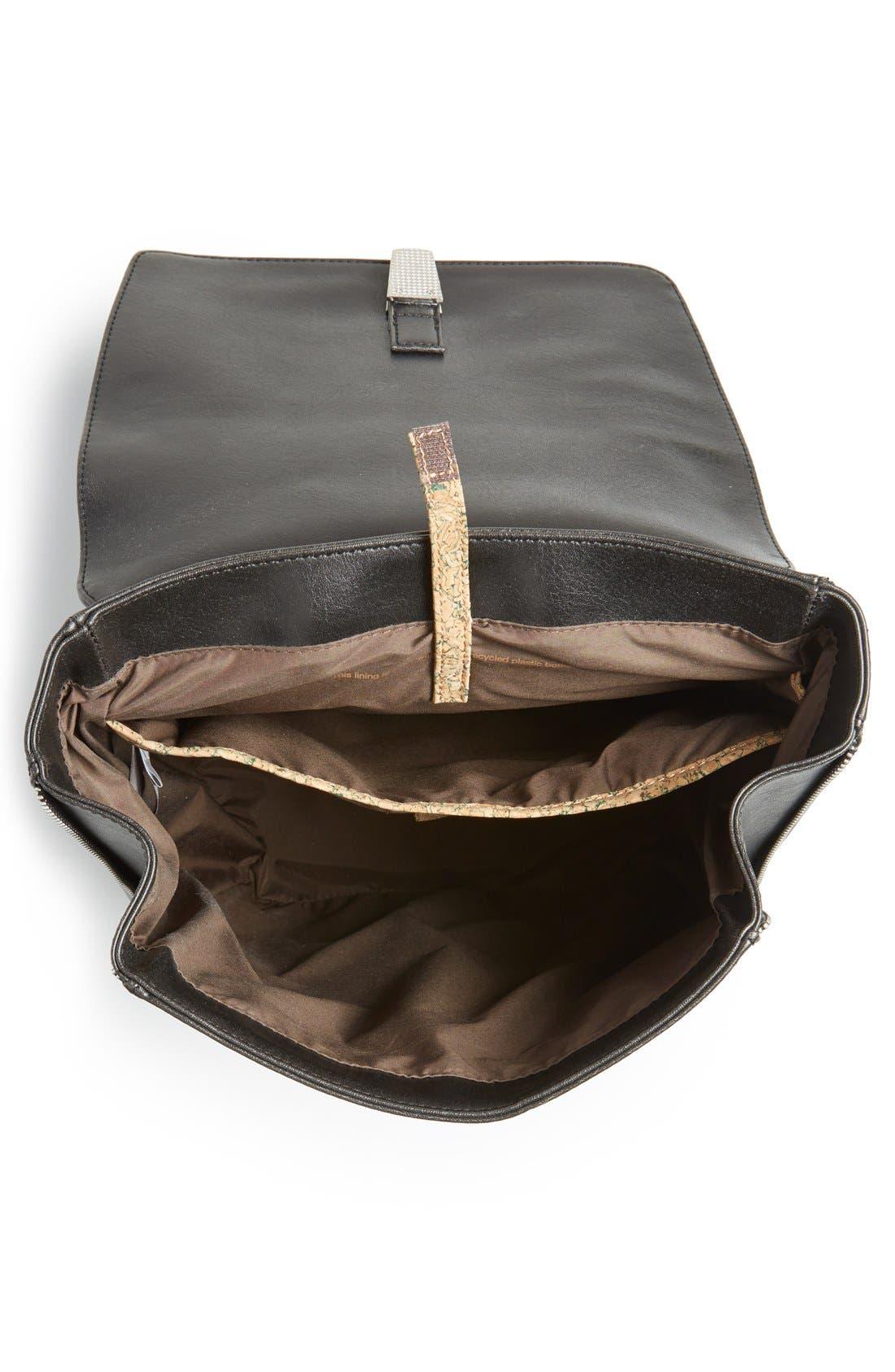 'Fabi' Faux Leather Laptop Backpack,                             Alternate thumbnail 2, color,                             BLACK