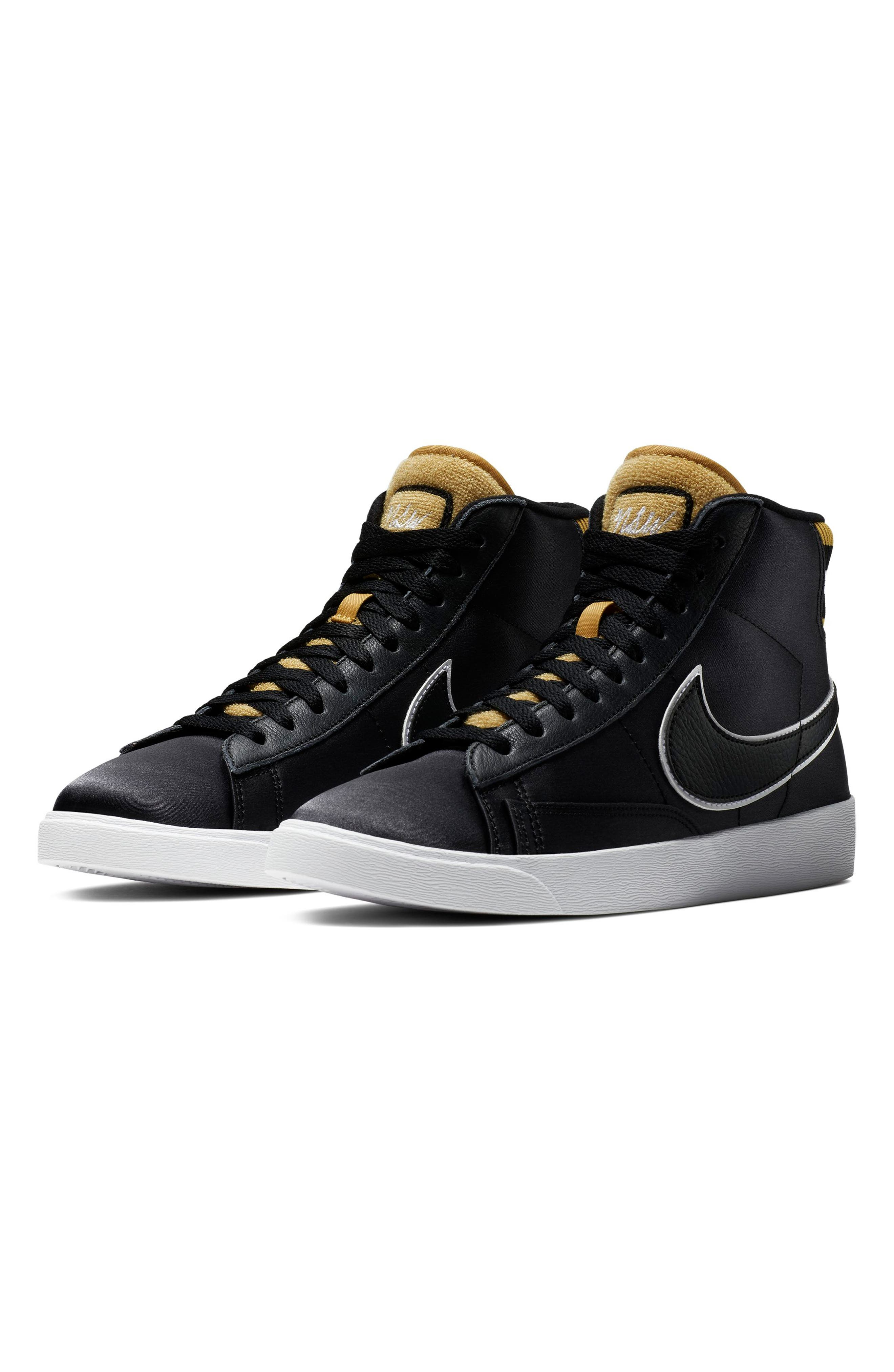 Blazer Mid Top Sneaker,                             Main thumbnail 1, color,                             BLACK/ BLACK