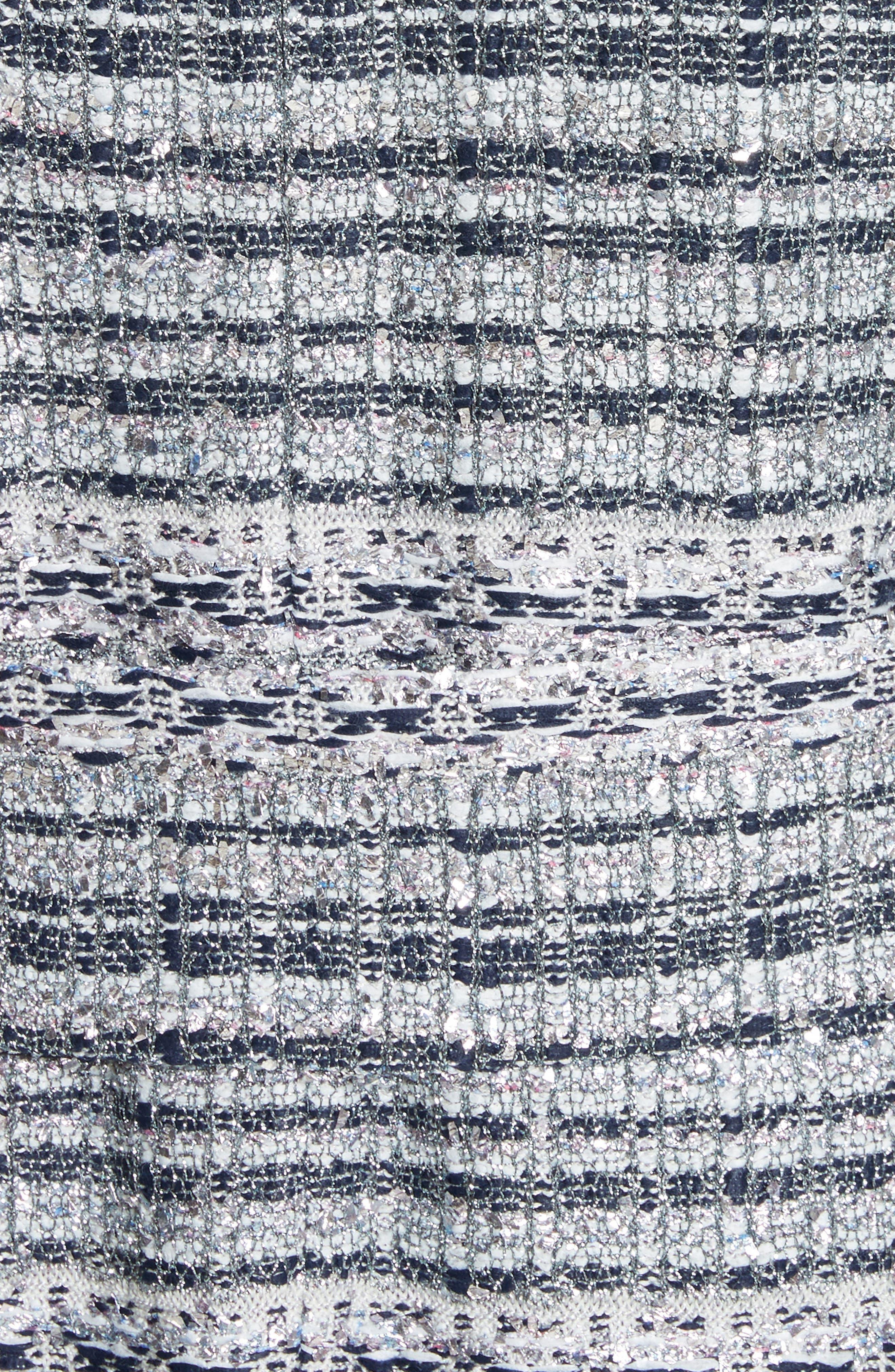 Lacquered Metallic Ribbon Knit Jacket,                             Alternate thumbnail 6, color,