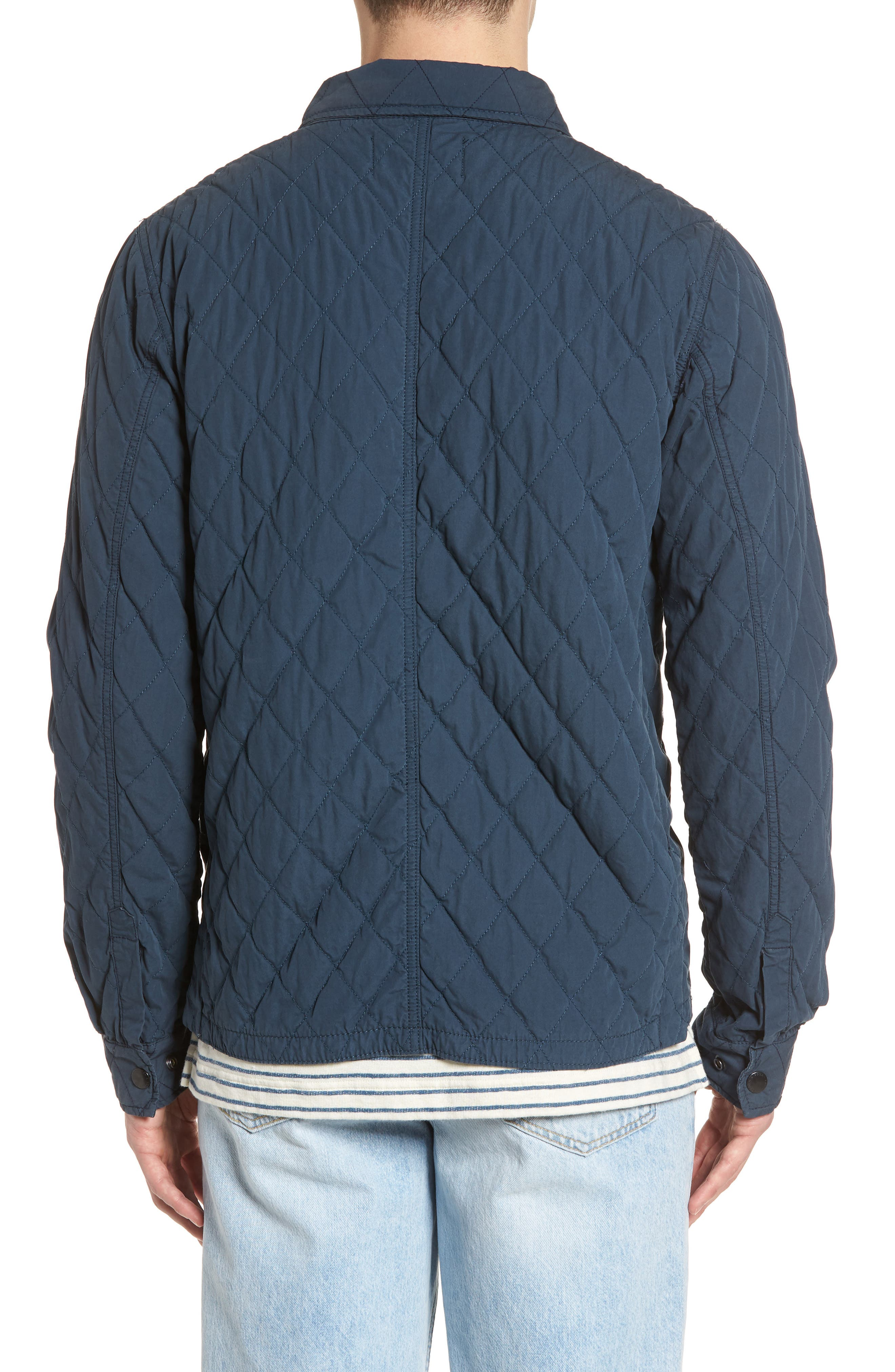 Quilted Shirt Jacket,                             Alternate thumbnail 2, color,                             STEEL