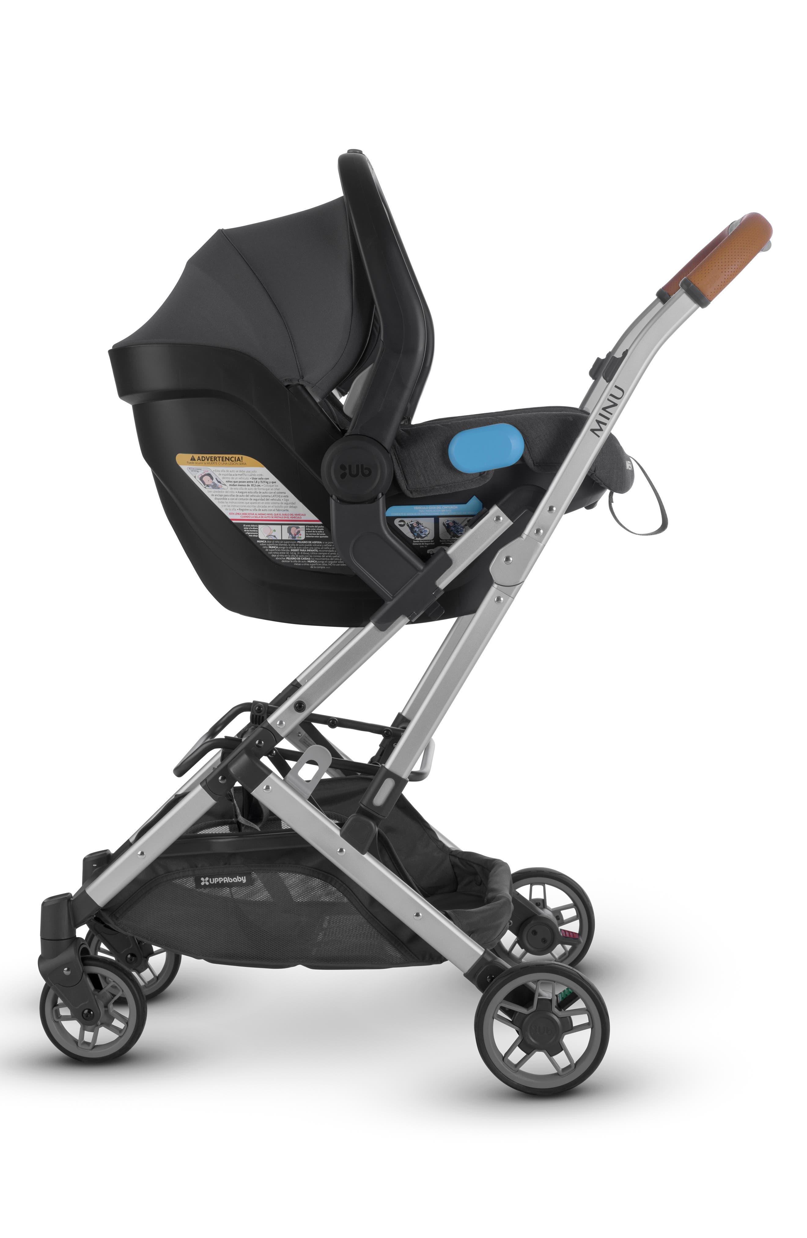 Minu Stroller to MESA Infant Car Seat Adapter,                             Alternate thumbnail 3, color,                             BLACK