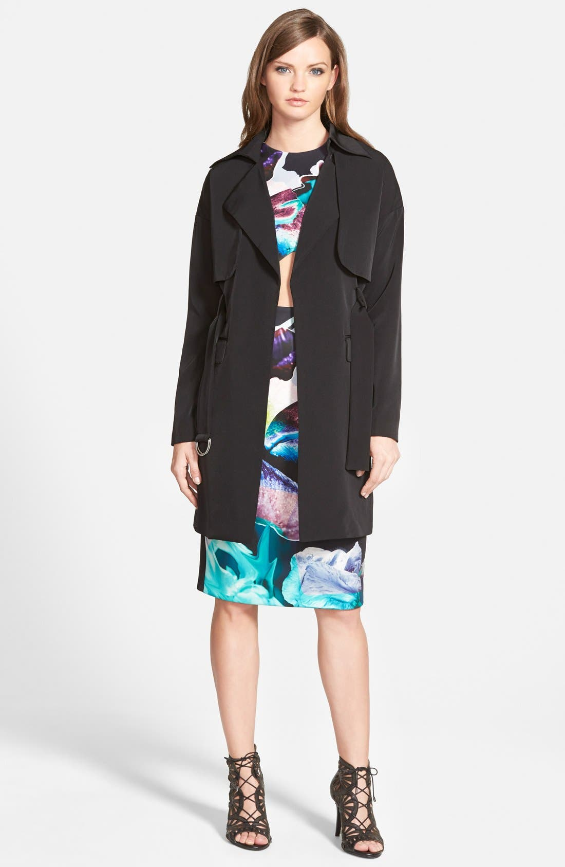 the Label 'Timewaster' TrenchCoat,                             Main thumbnail 1, color,                             001