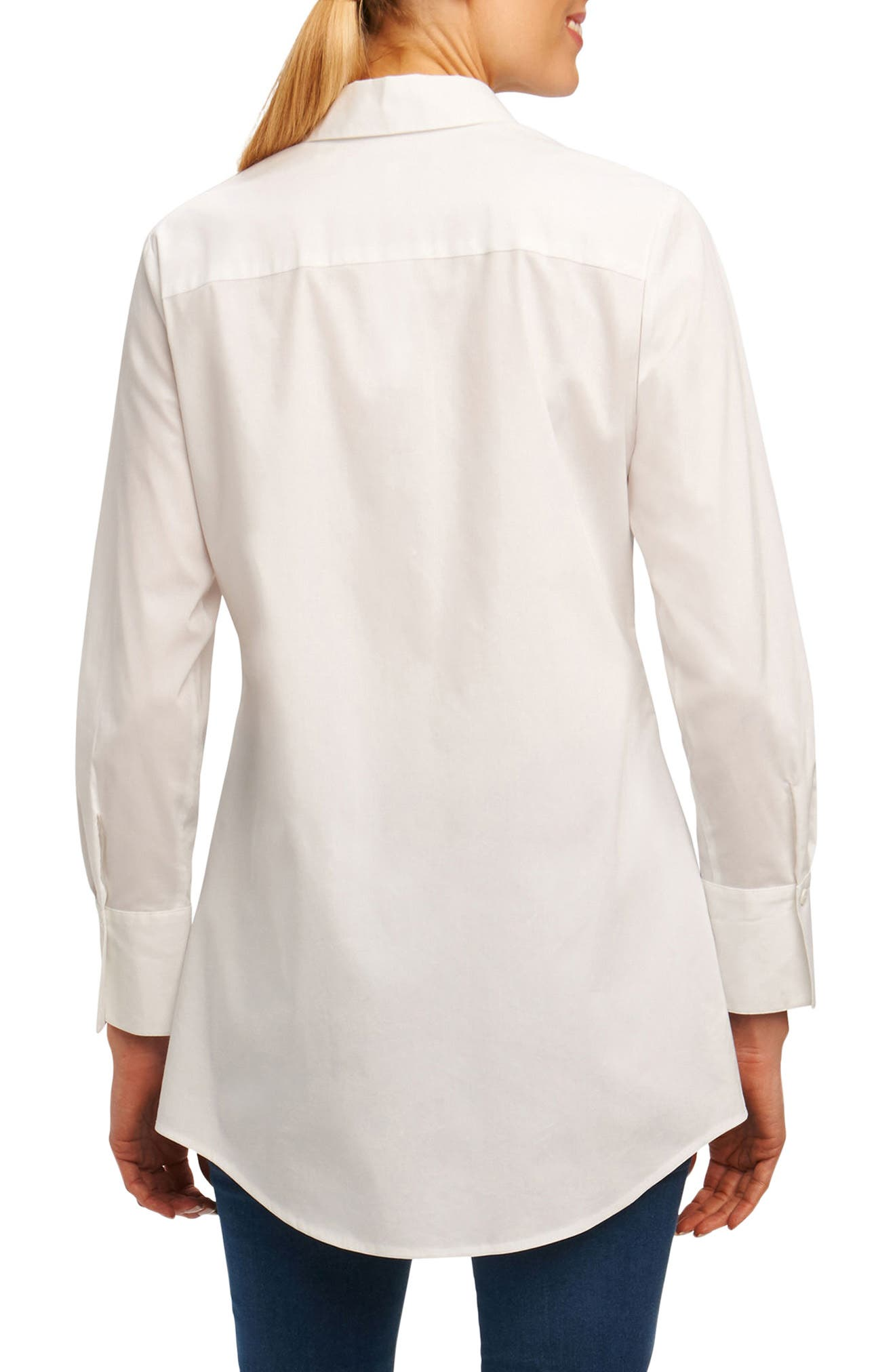 Cici Stretch Tunic Shirt,                             Alternate thumbnail 2, color,                             100
