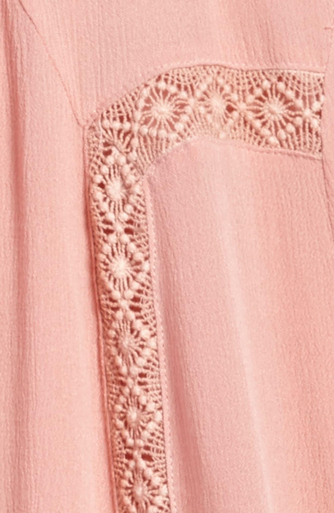 Lace Trim Trapeze Dress,                             Alternate thumbnail 3, color,                             950