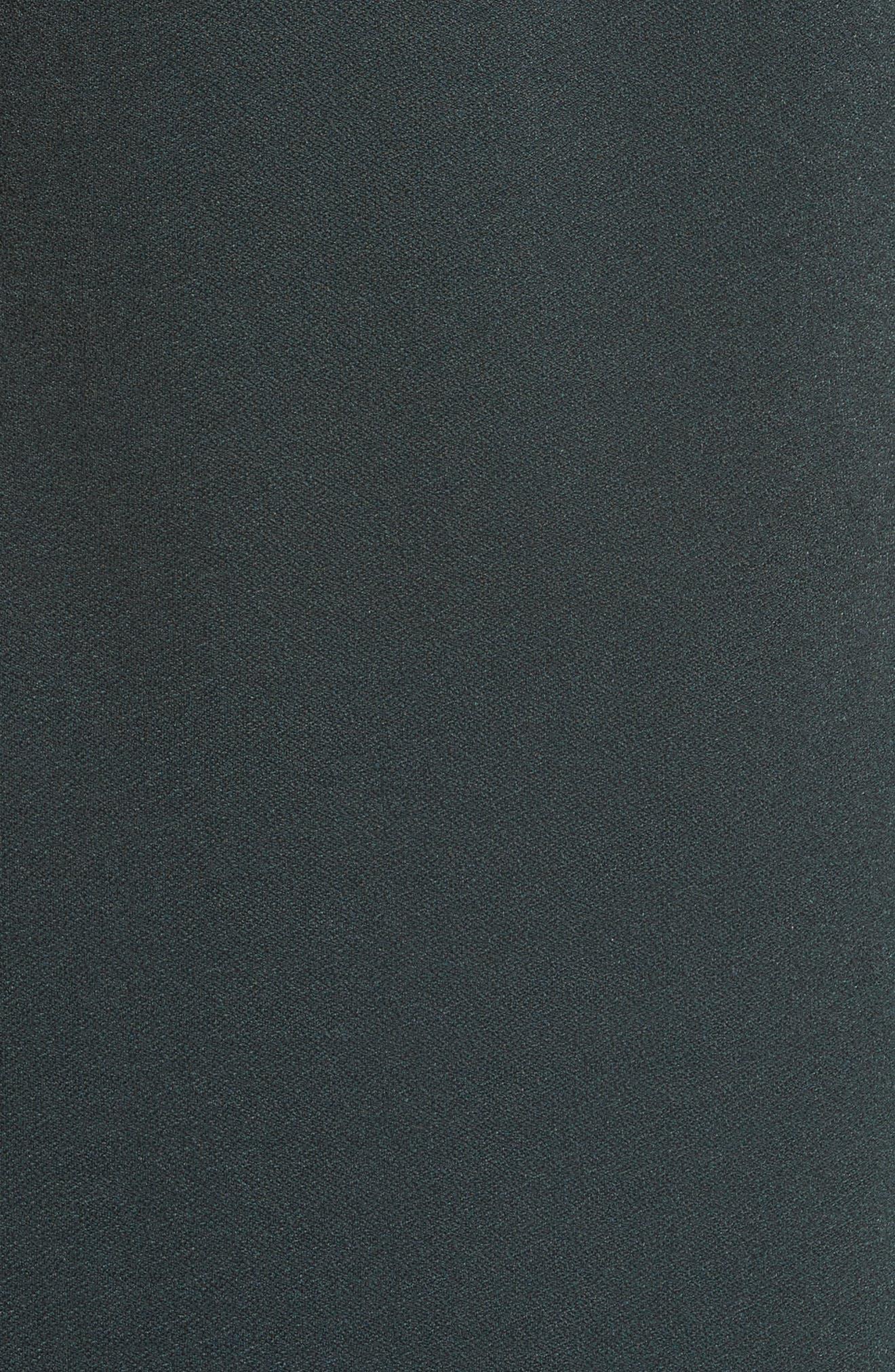 Ruffled Crepe Knit Midi Dress,                             Alternate thumbnail 5, color,                             303