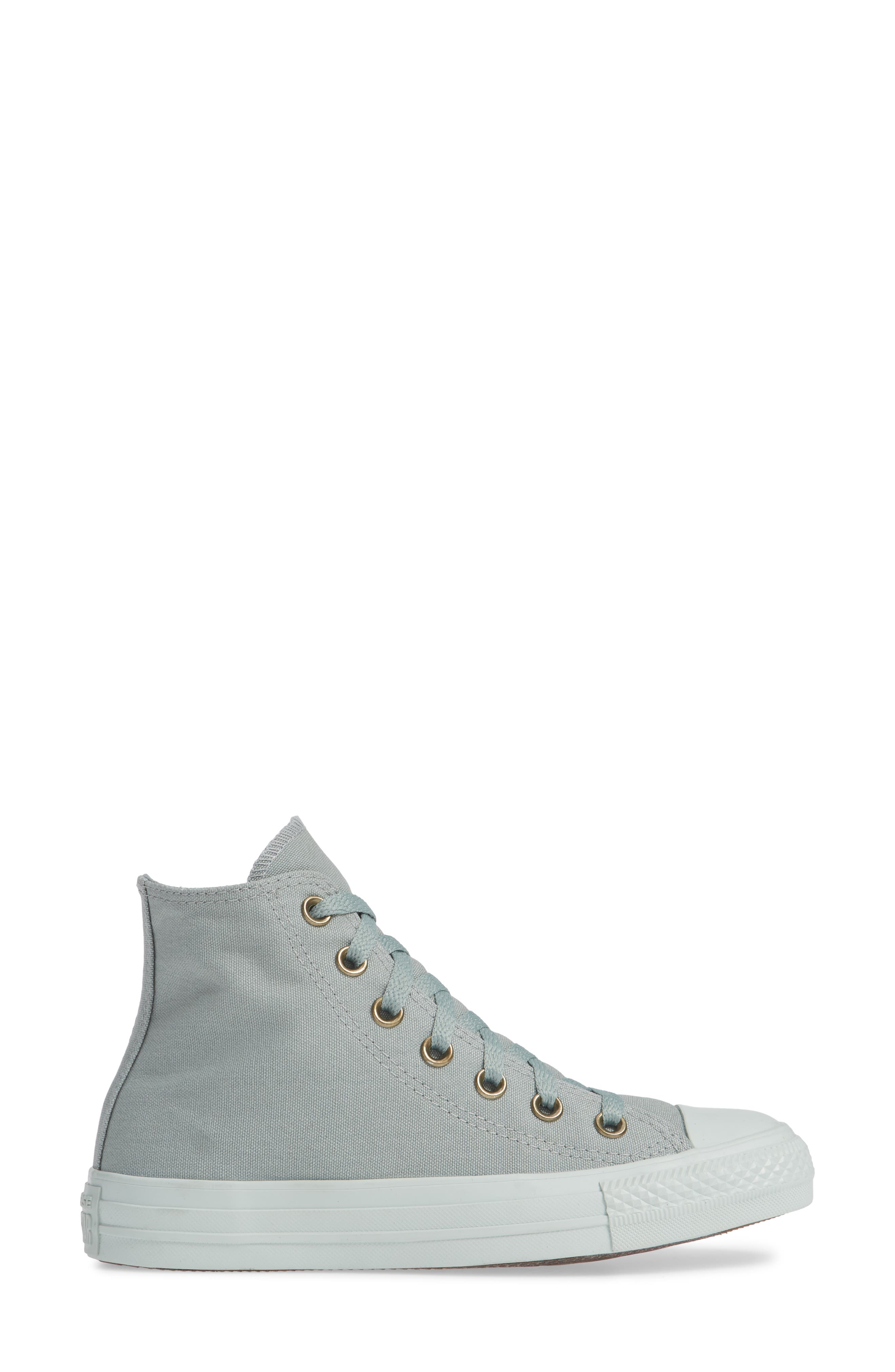 Chuck Taylor<sup>®</sup> All Star<sup>®</sup> Botanical High Top Sneaker,                             Alternate thumbnail 3, color,                             MICA GREEN