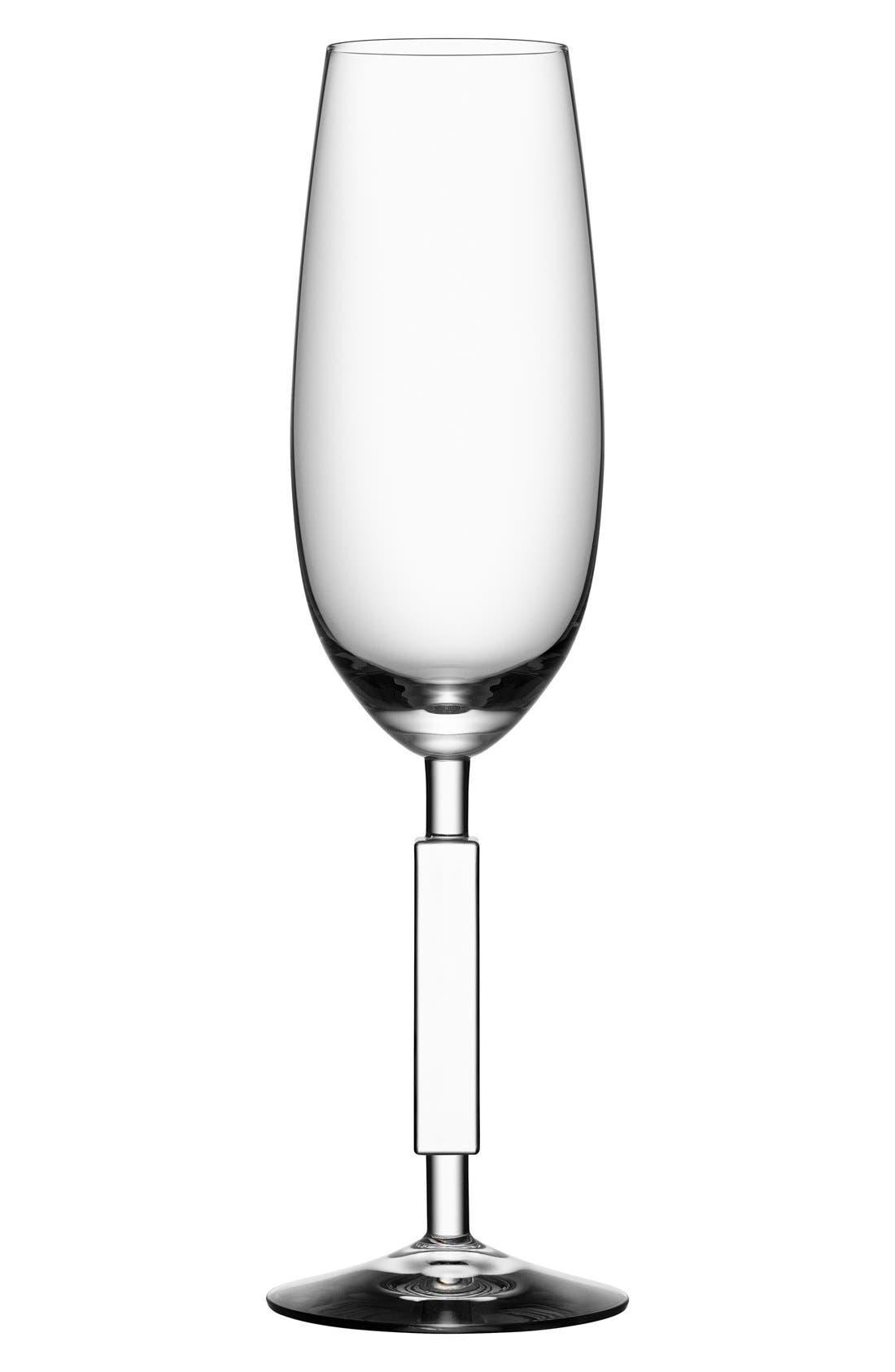 'Unique' ChampagneFlute,                             Main thumbnail 1, color,                             CLEAR