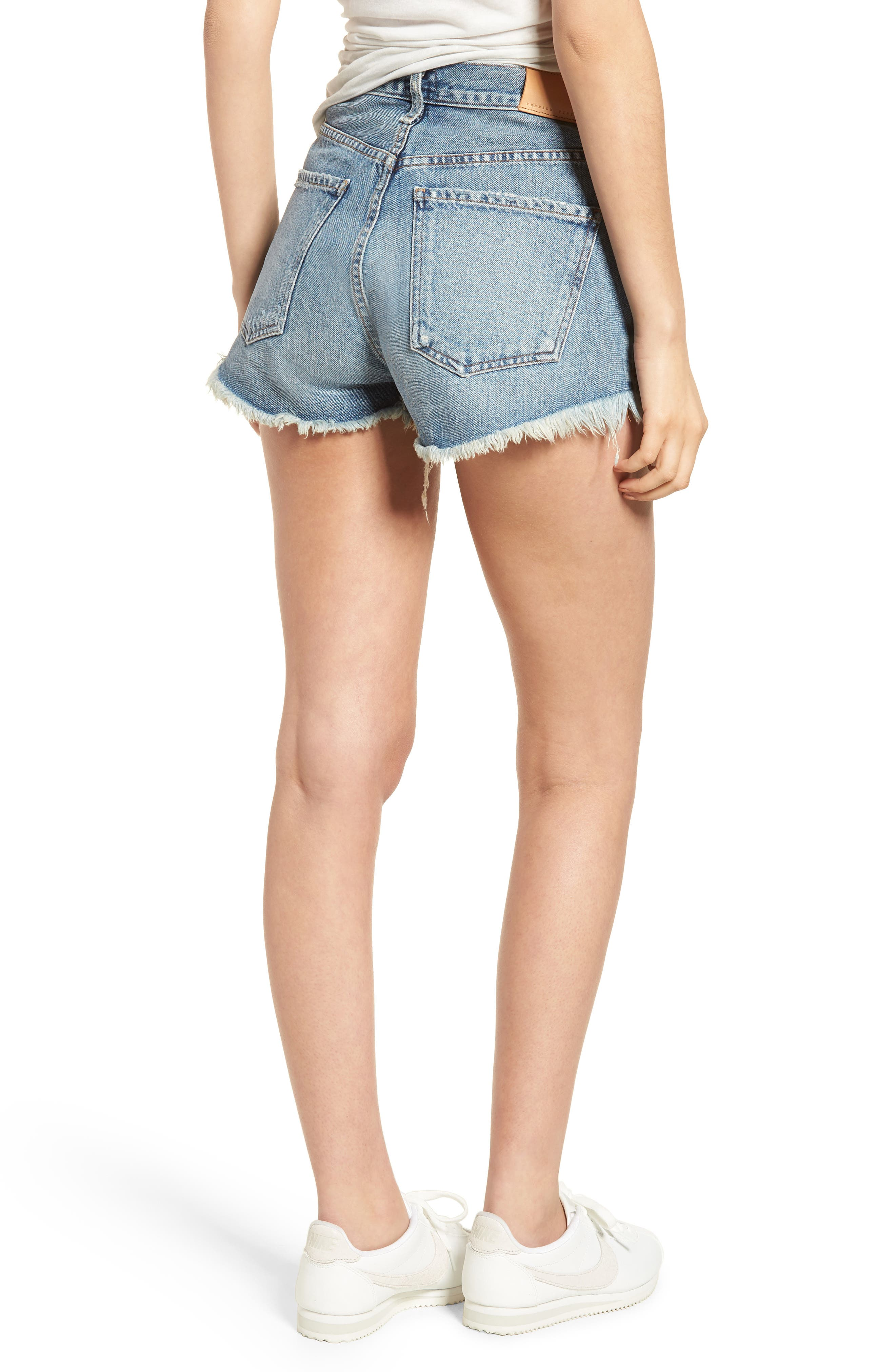 Danielle High Waist Cutoff Shorts,                             Alternate thumbnail 2, color,