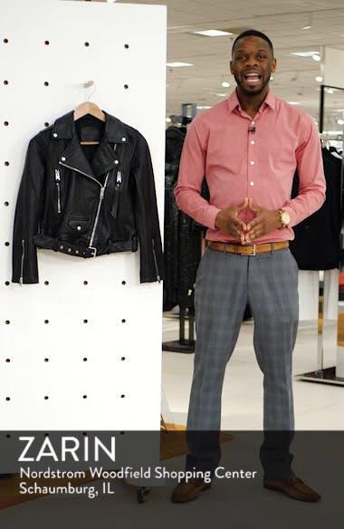 Juno Leather Biker Jacket, sales video thumbnail