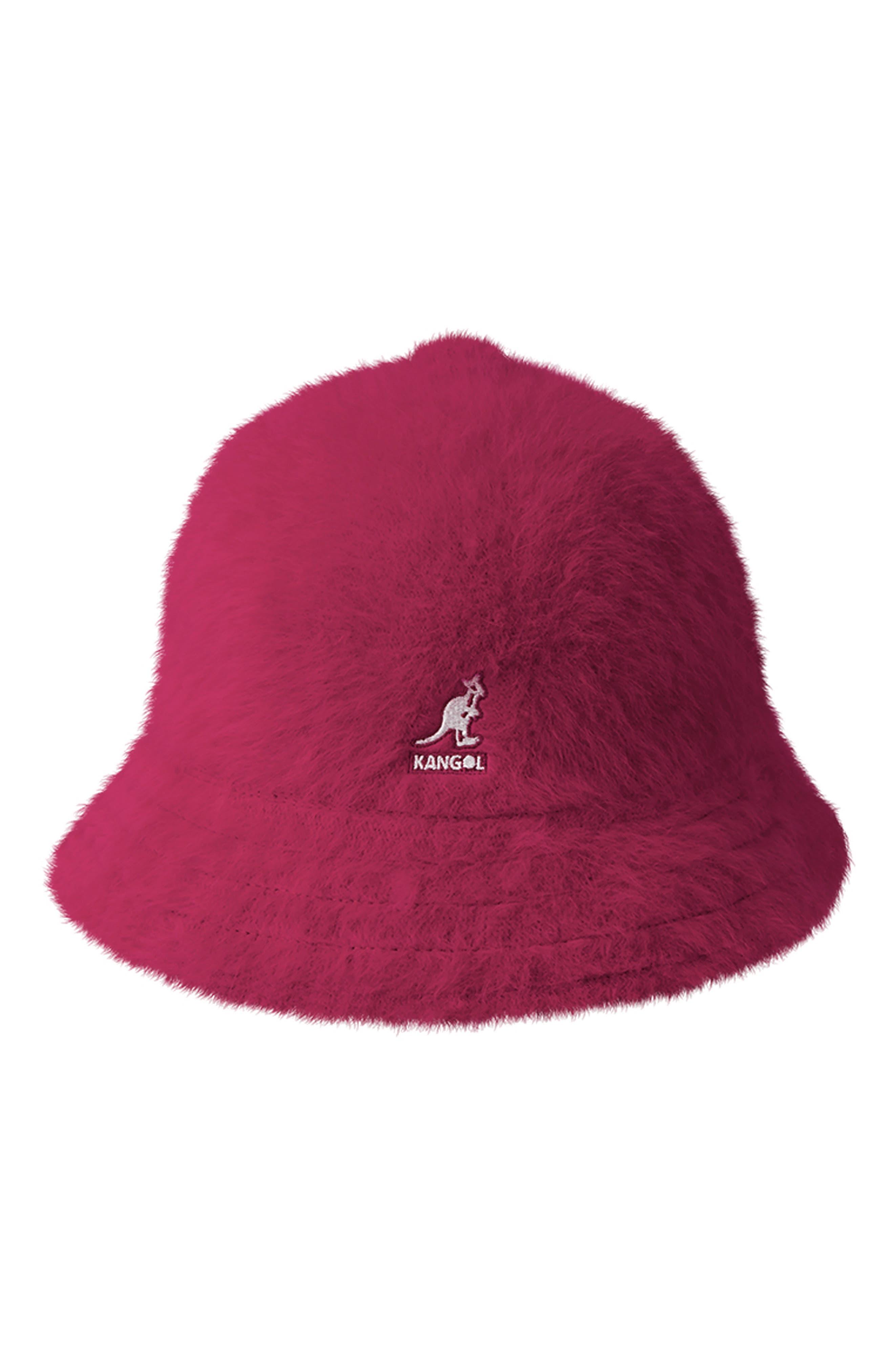 KANGOL Furgora Casual Bucket Hat - Pink in Garnet