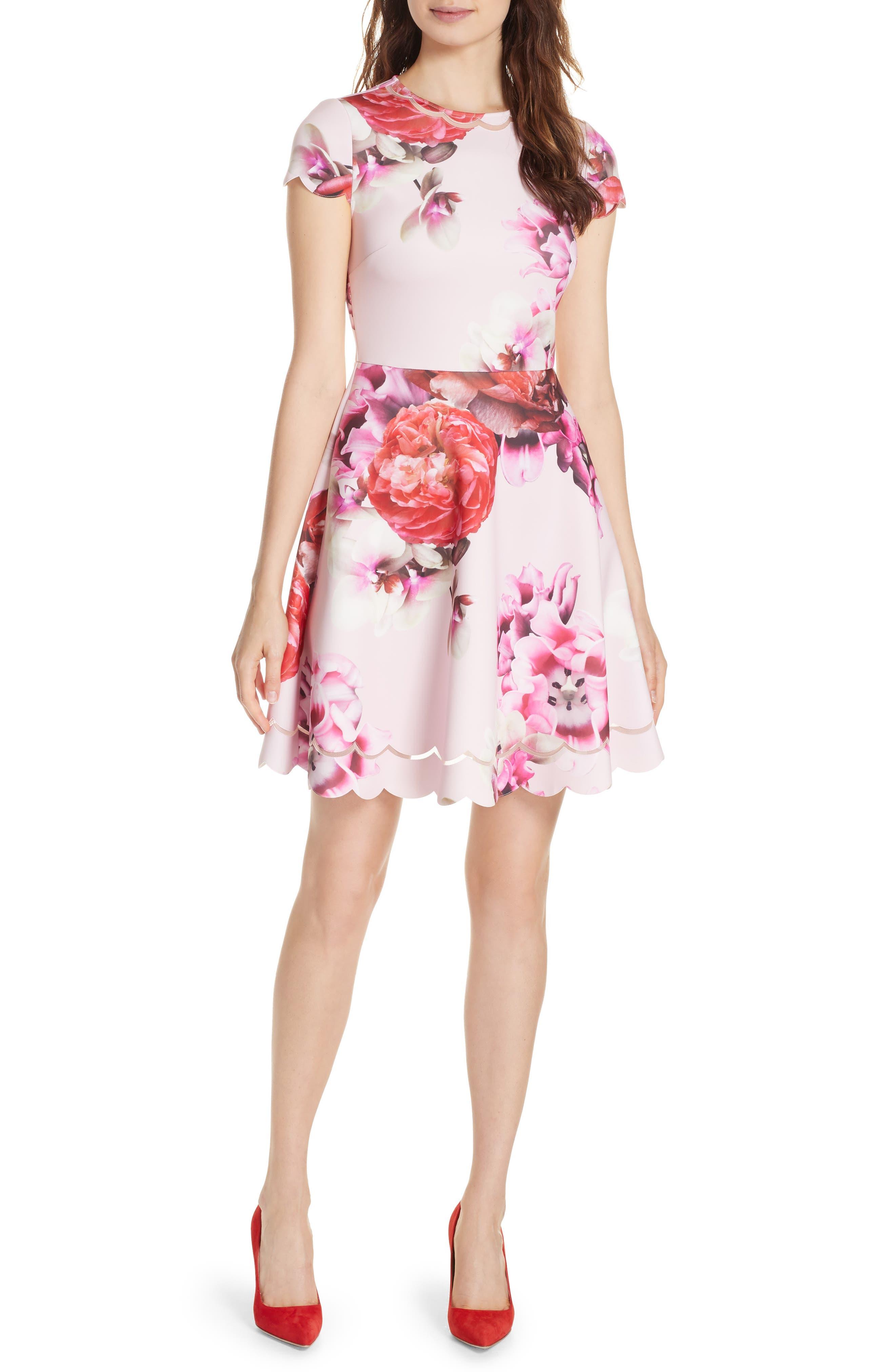 Seeana Splendour Skater Dress,                             Main thumbnail 1, color,                             683
