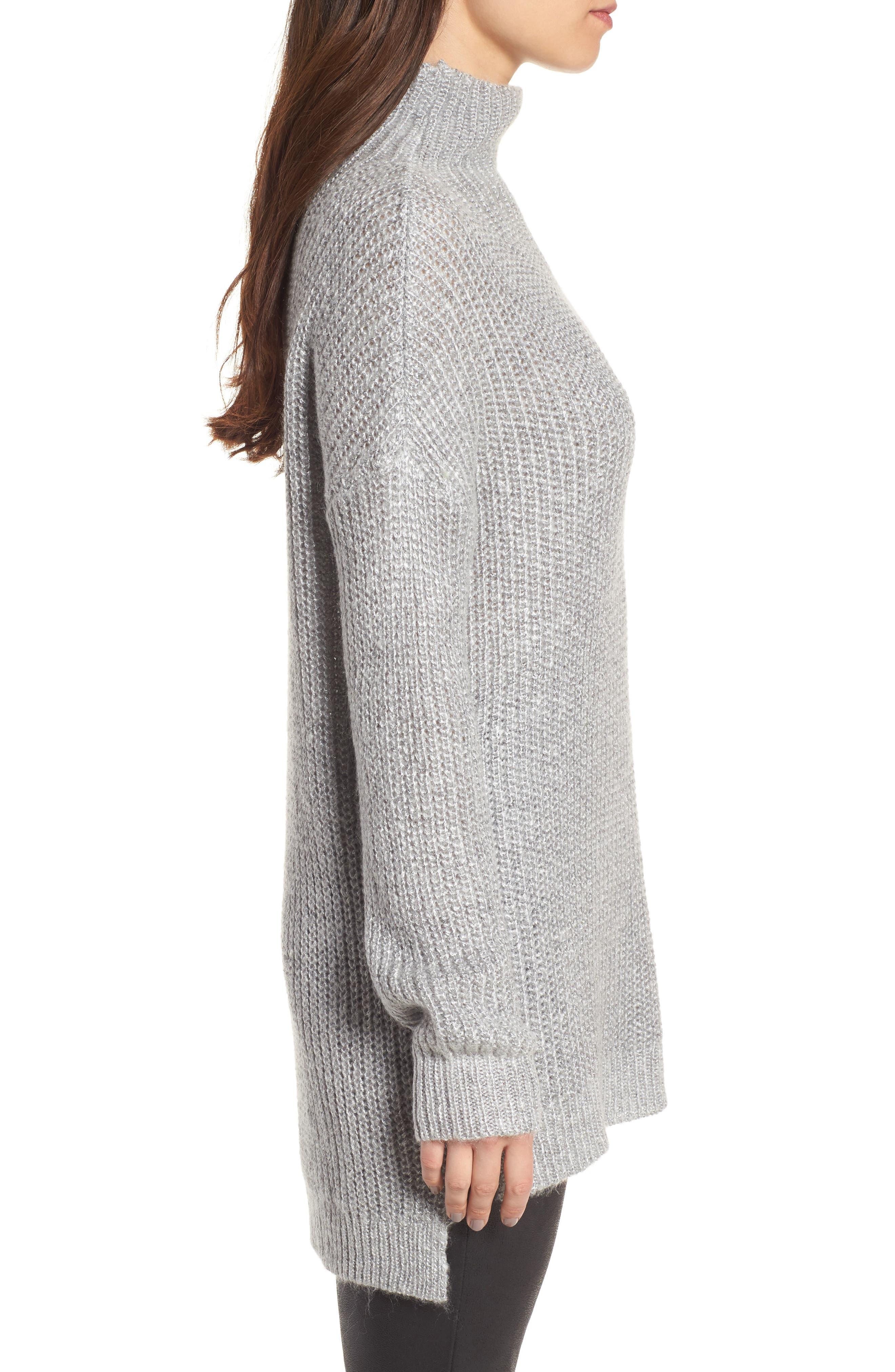 Rib Knit Sweater,                             Alternate thumbnail 3, color,                             030