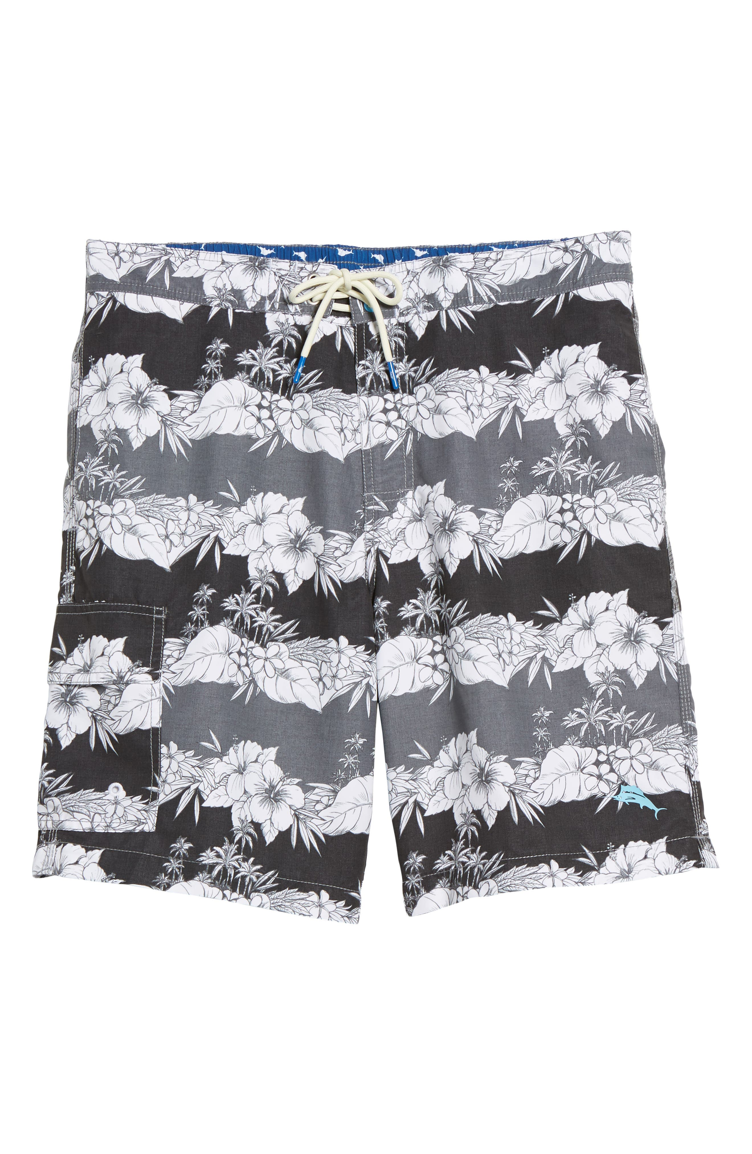 Baja Sky Vines Swim Trunks,                             Alternate thumbnail 6, color,                             001