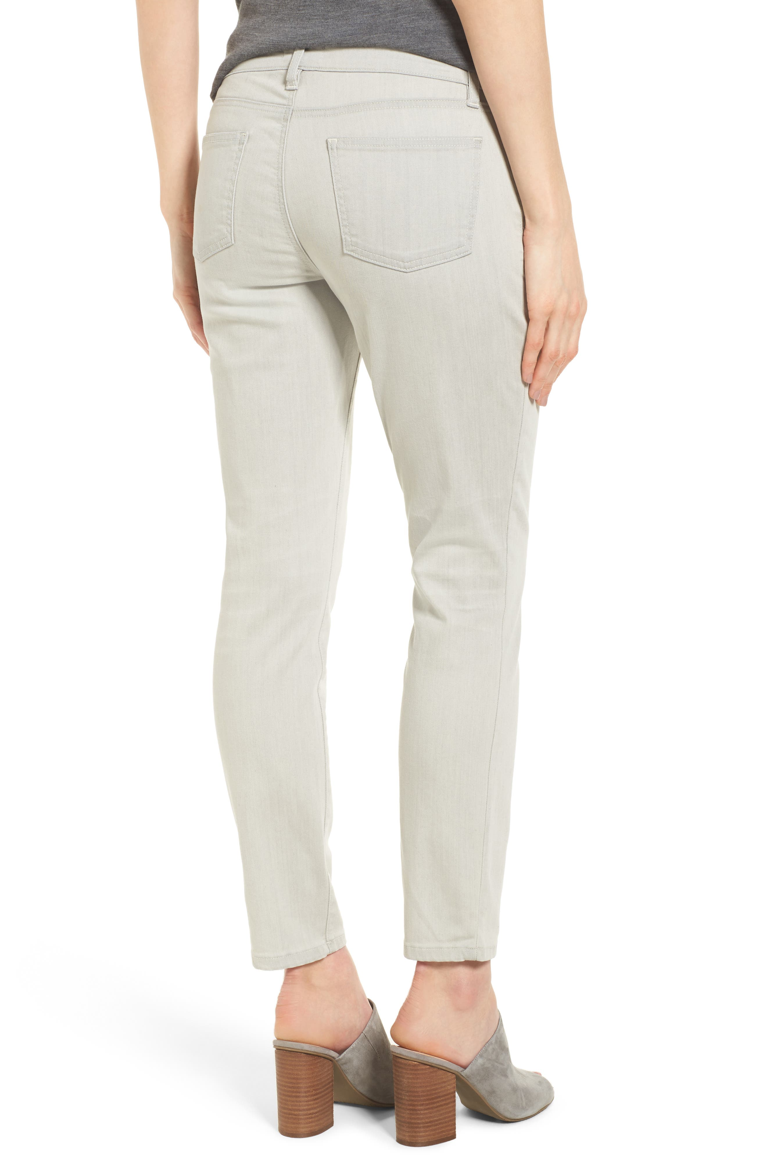 Slim Stretch Ankle Jeans,                             Alternate thumbnail 2, color,                             CEMENT