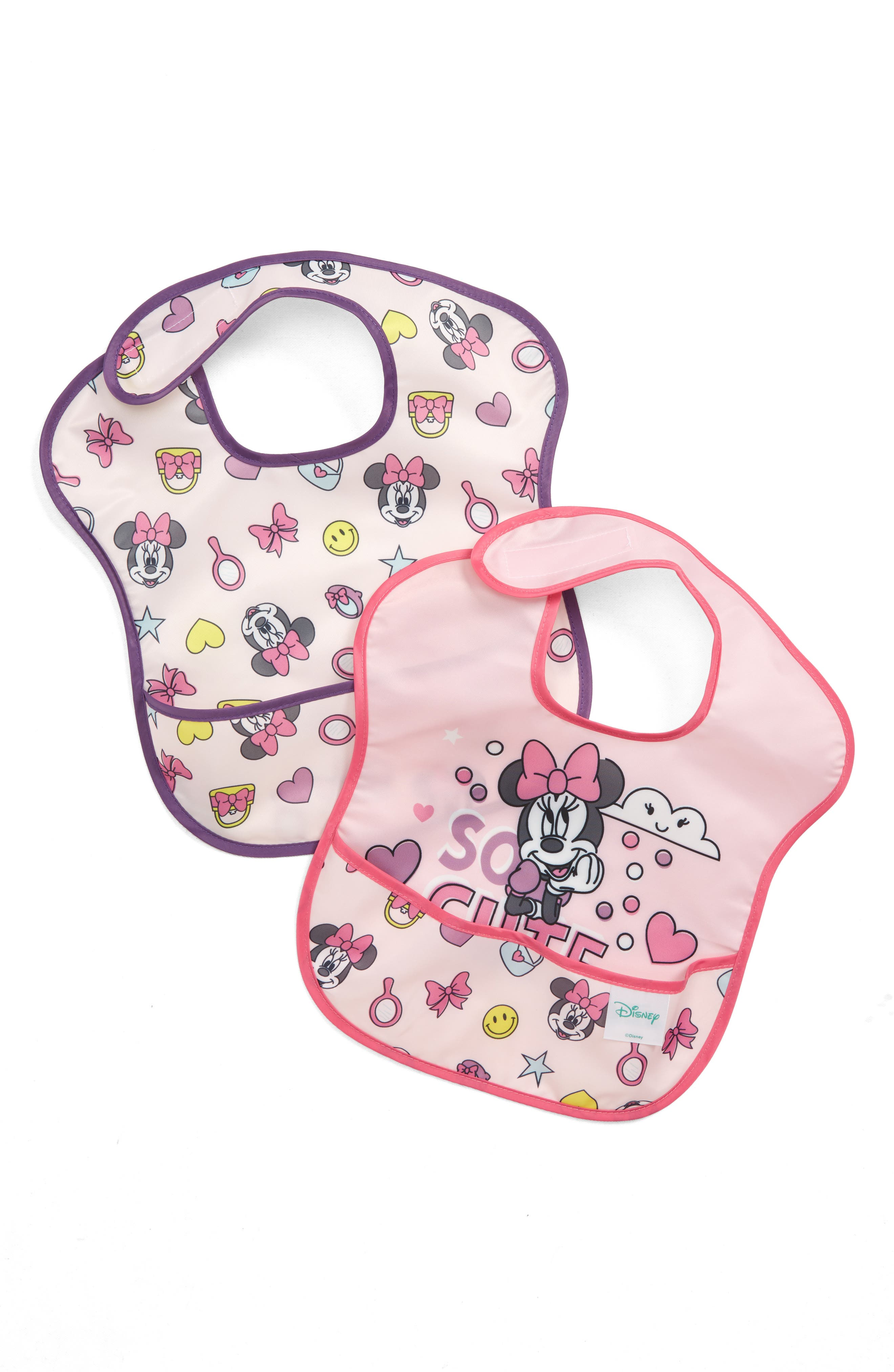 2-Pack Minnie Mouse<sup>®</sup> SuperBib Set,                         Main,                         color, PINK