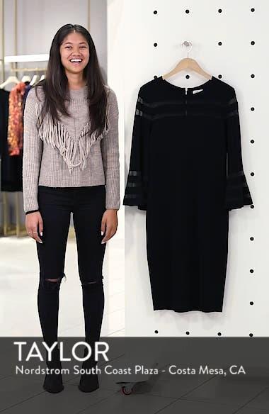Mesh Stripe Sheath Dress, sales video thumbnail