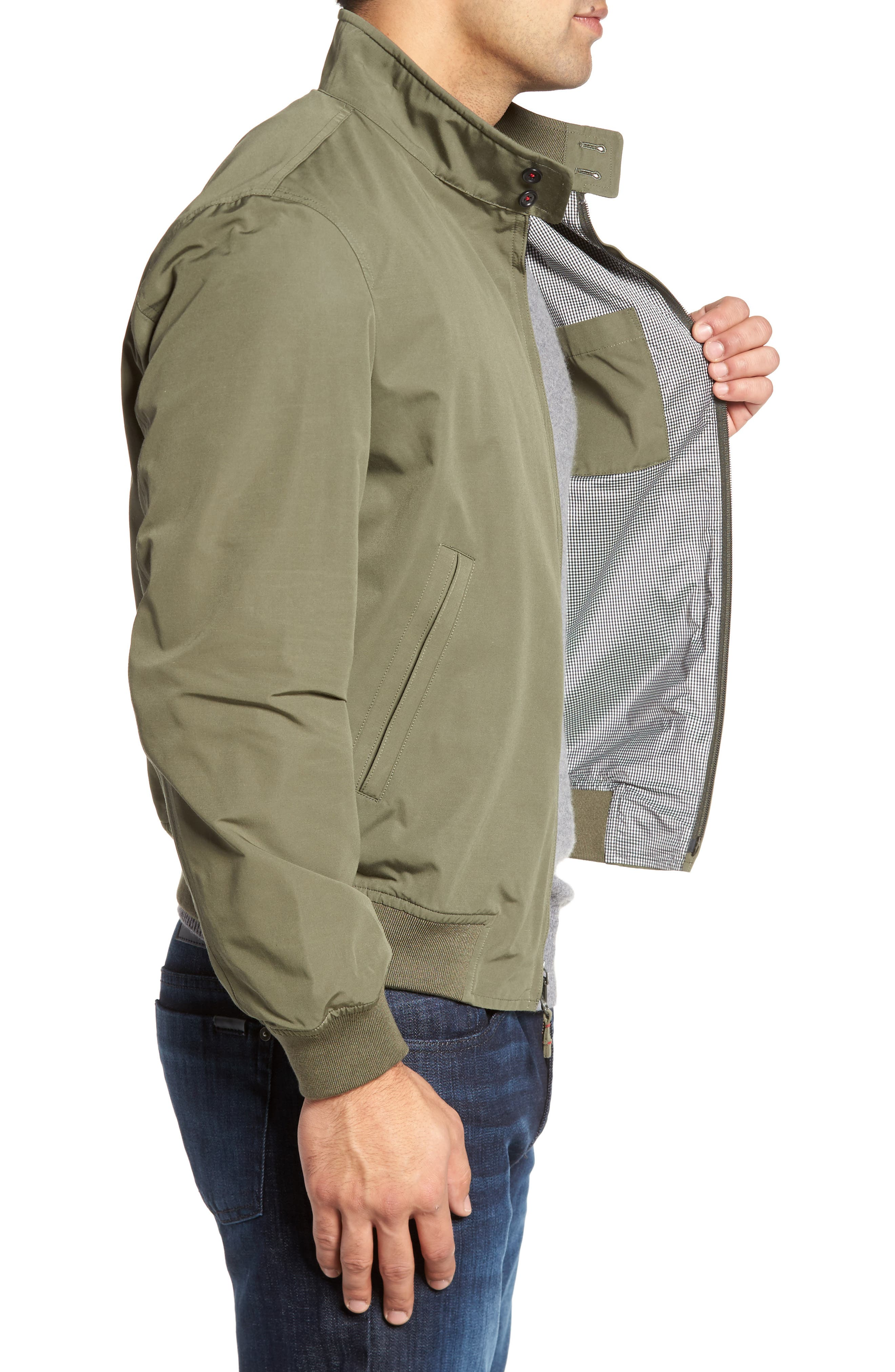 Water-Repellent Zip Front Jacket,                             Alternate thumbnail 3, color,                             374