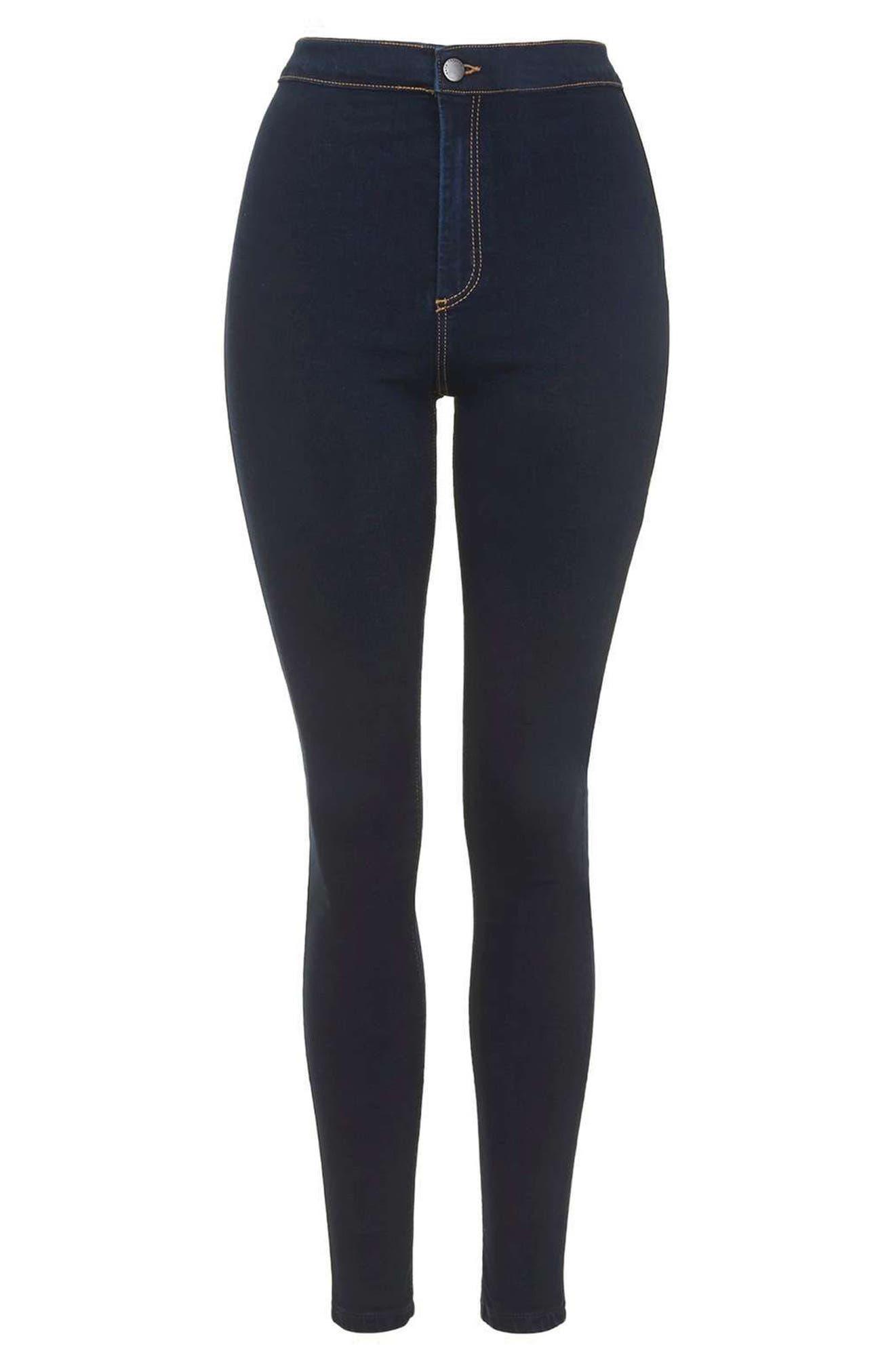 TOPSHOP,                             Joni High Waist Skinny Jeans,                             Alternate thumbnail 4, color,                             400