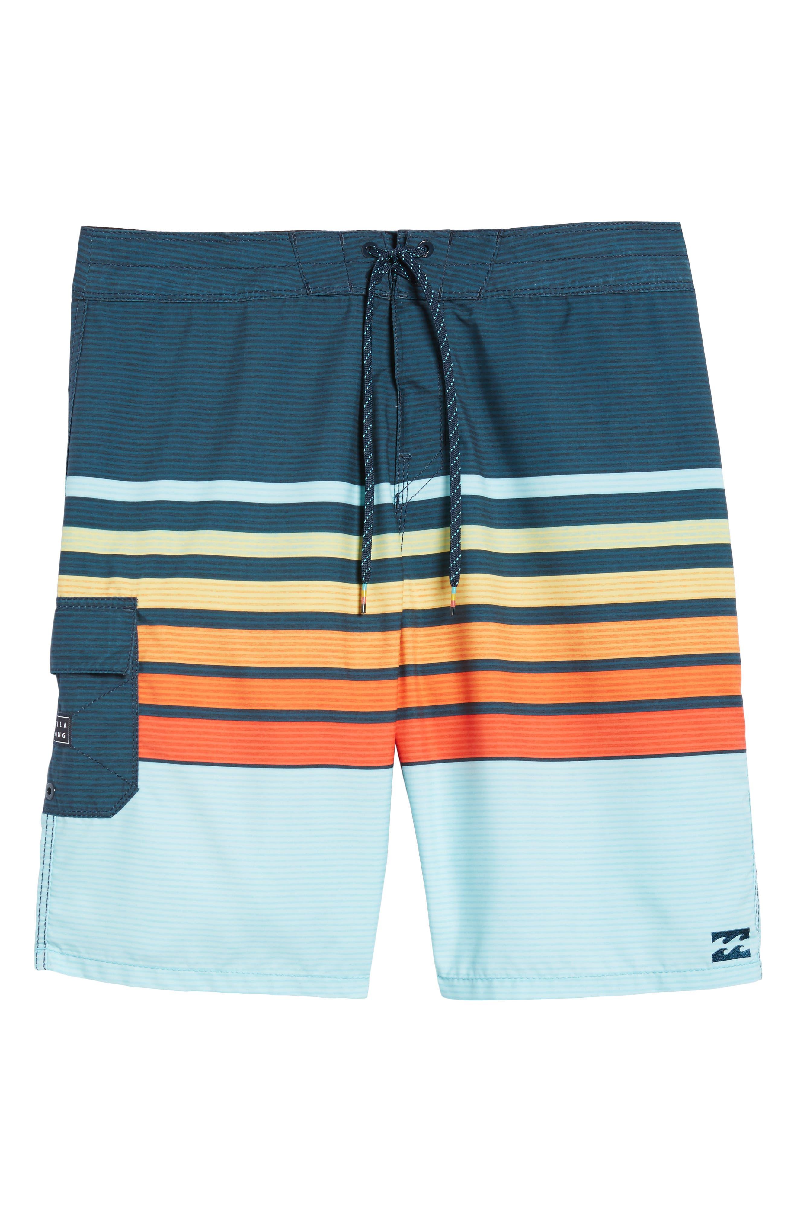 All Day OG Stripe Board Shorts,                             Alternate thumbnail 18, color,