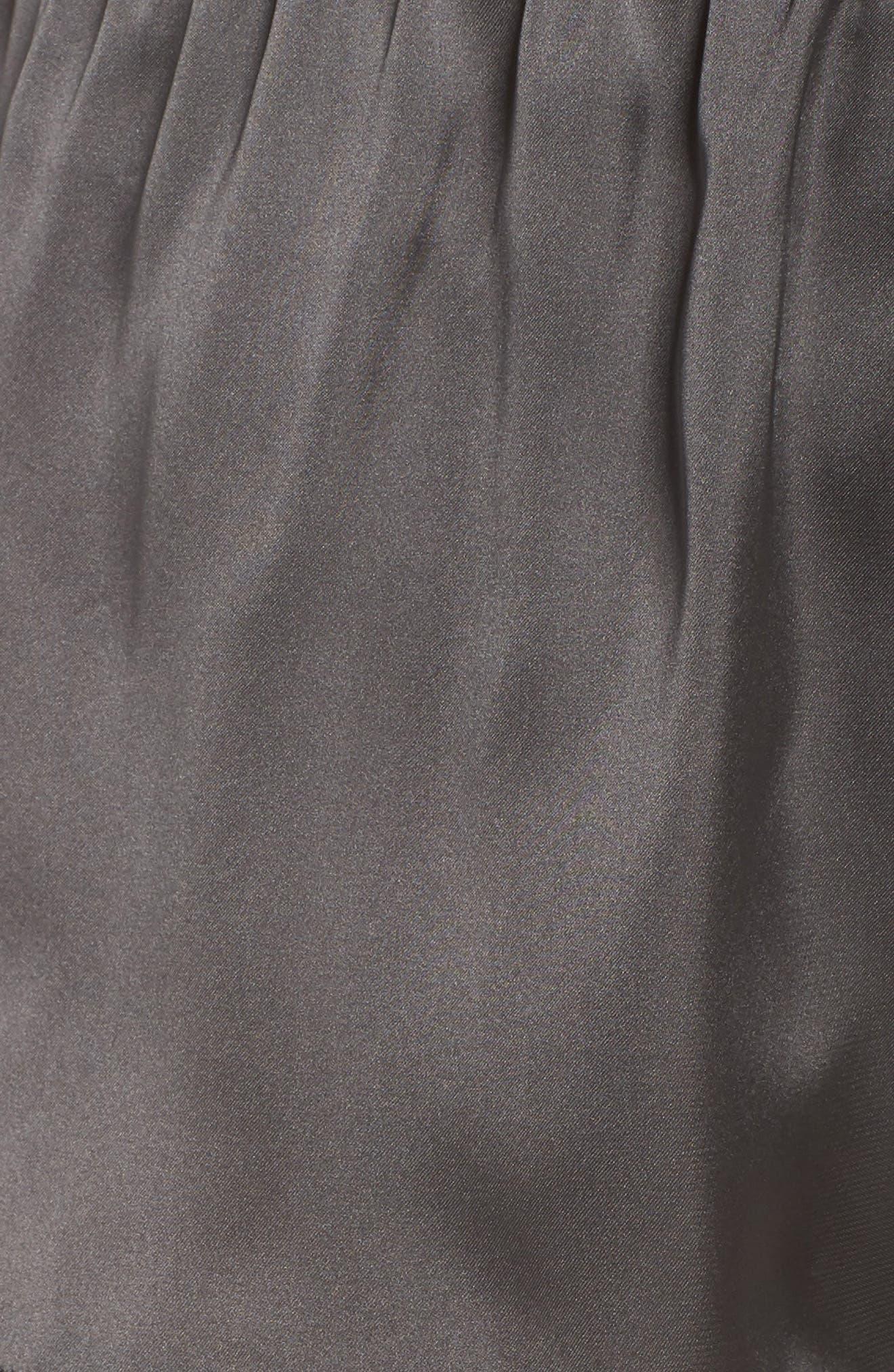 Satin Lounge Shorts,                             Alternate thumbnail 5, color,                             022