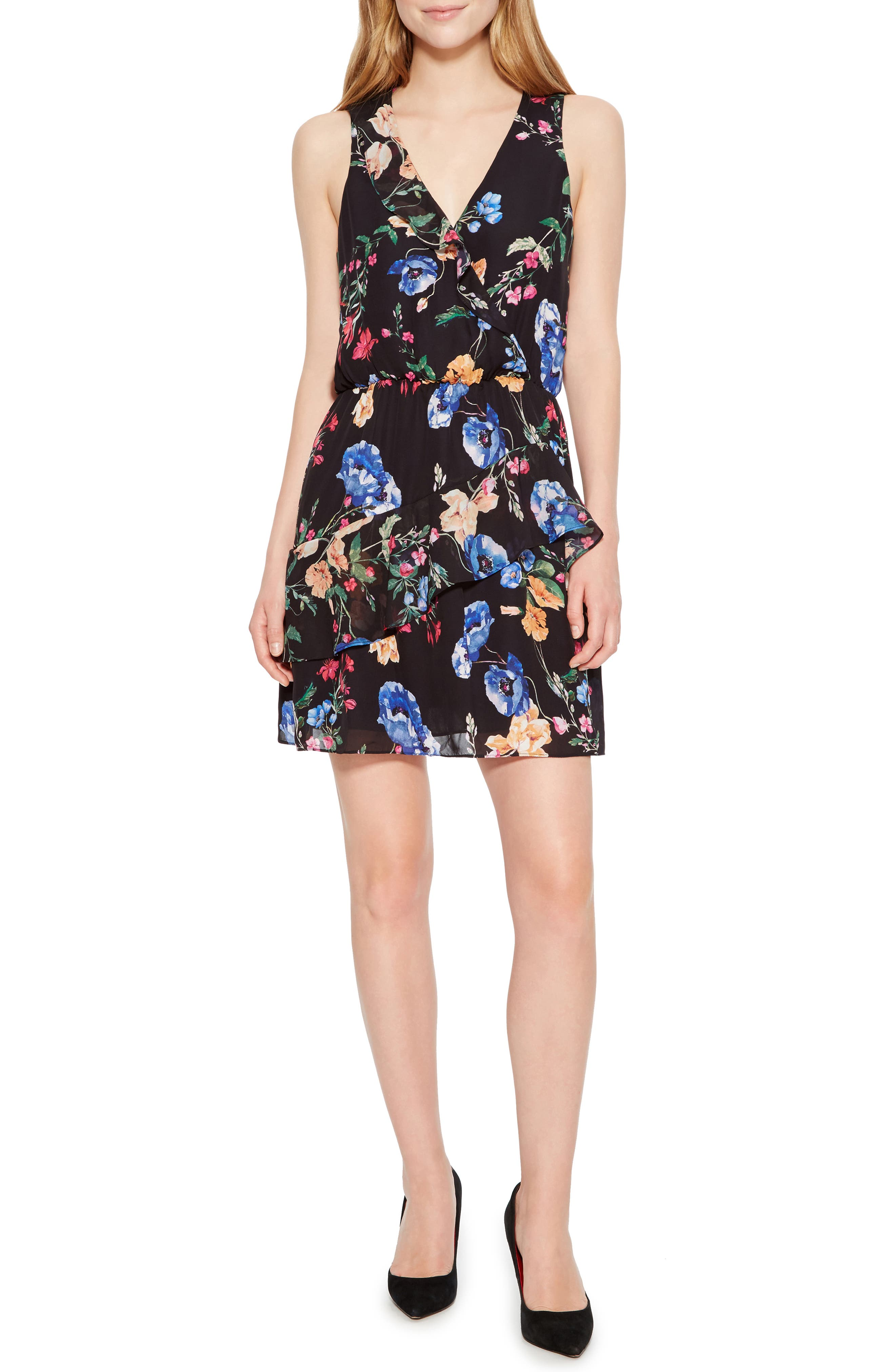 PARKER,                             Lexi Floral Dress,                             Main thumbnail 1, color,                             002