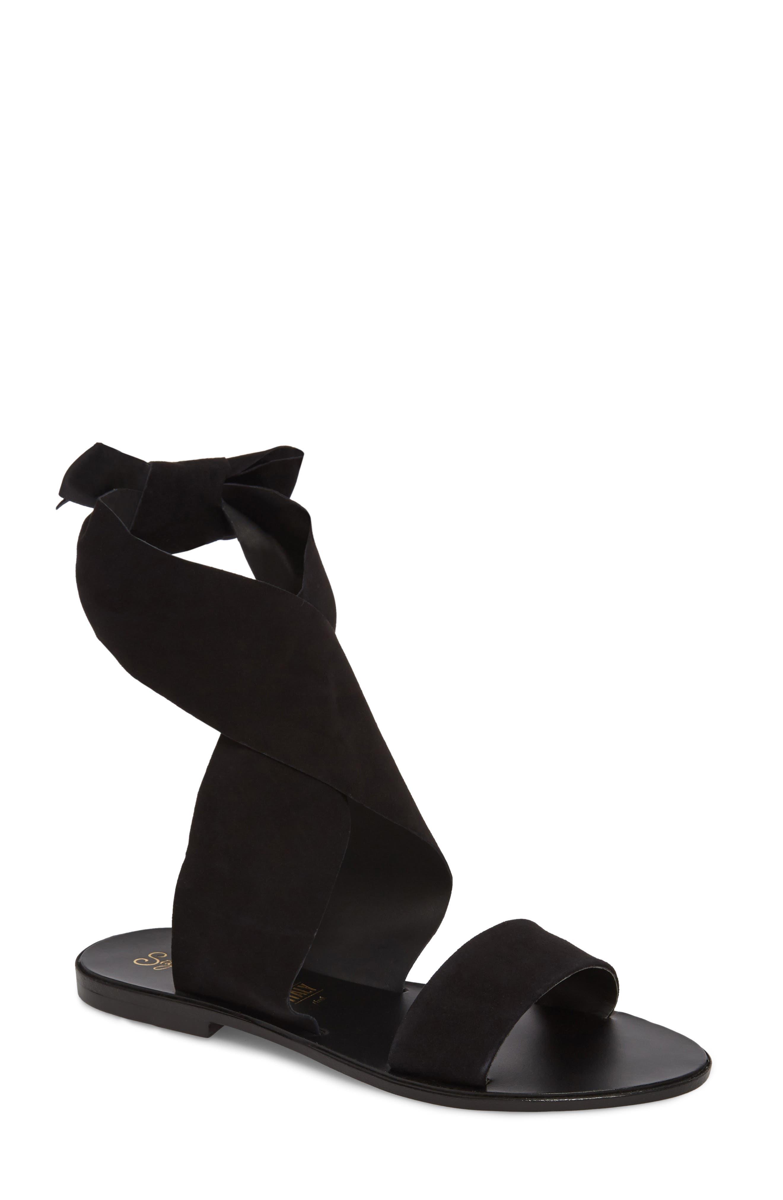 Cruisin Ankle Wrap Sandal,                             Main thumbnail 1, color,                             001
