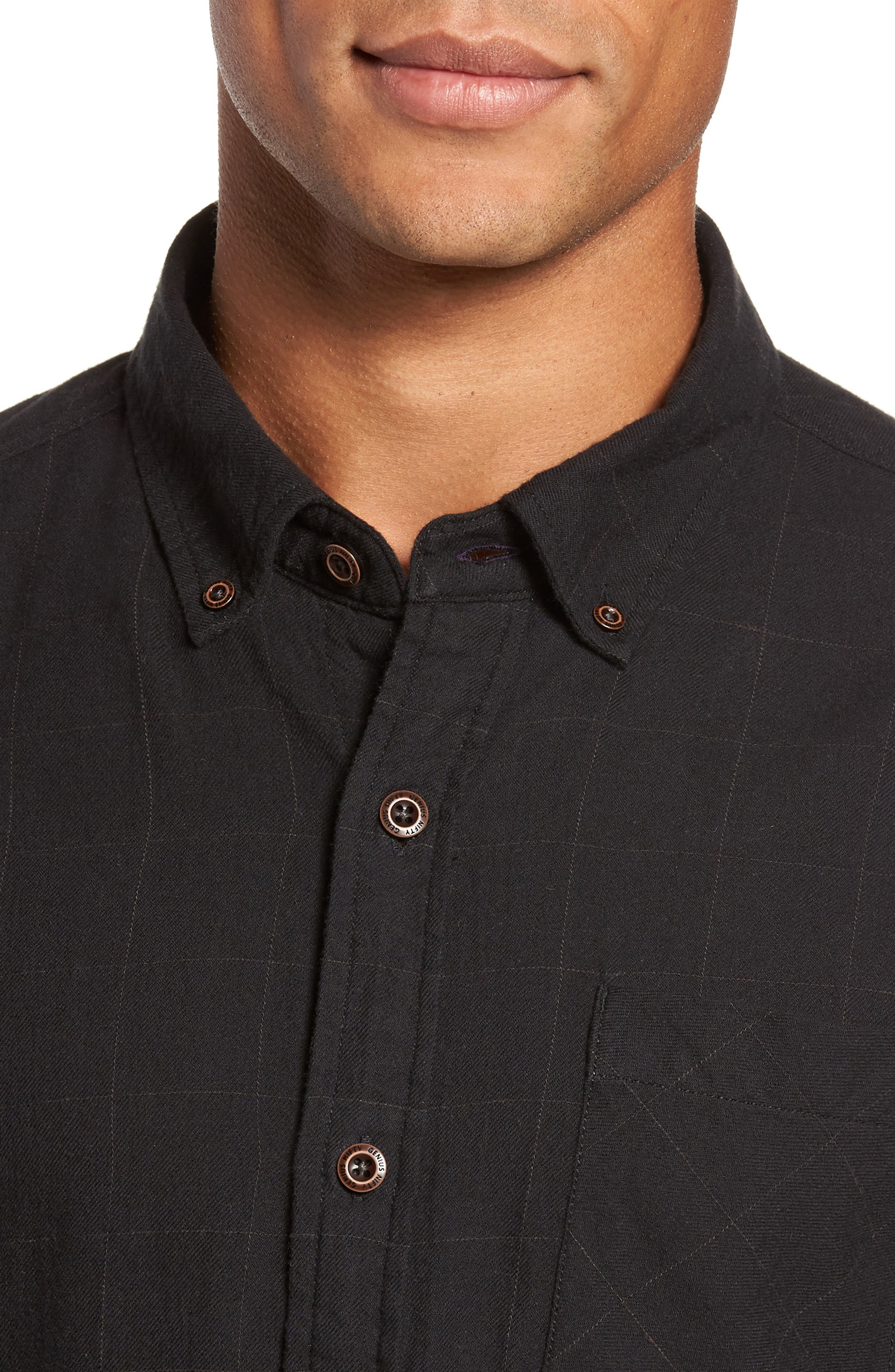 Tuman Windowpane Sport Shirt,                             Alternate thumbnail 4, color,                             001