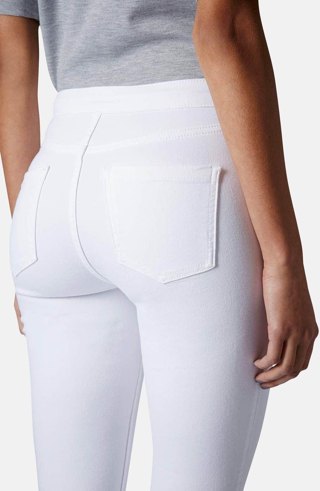 Moto 'Joni' High Rise Skinny Jeans,                             Alternate thumbnail 2, color,                             100