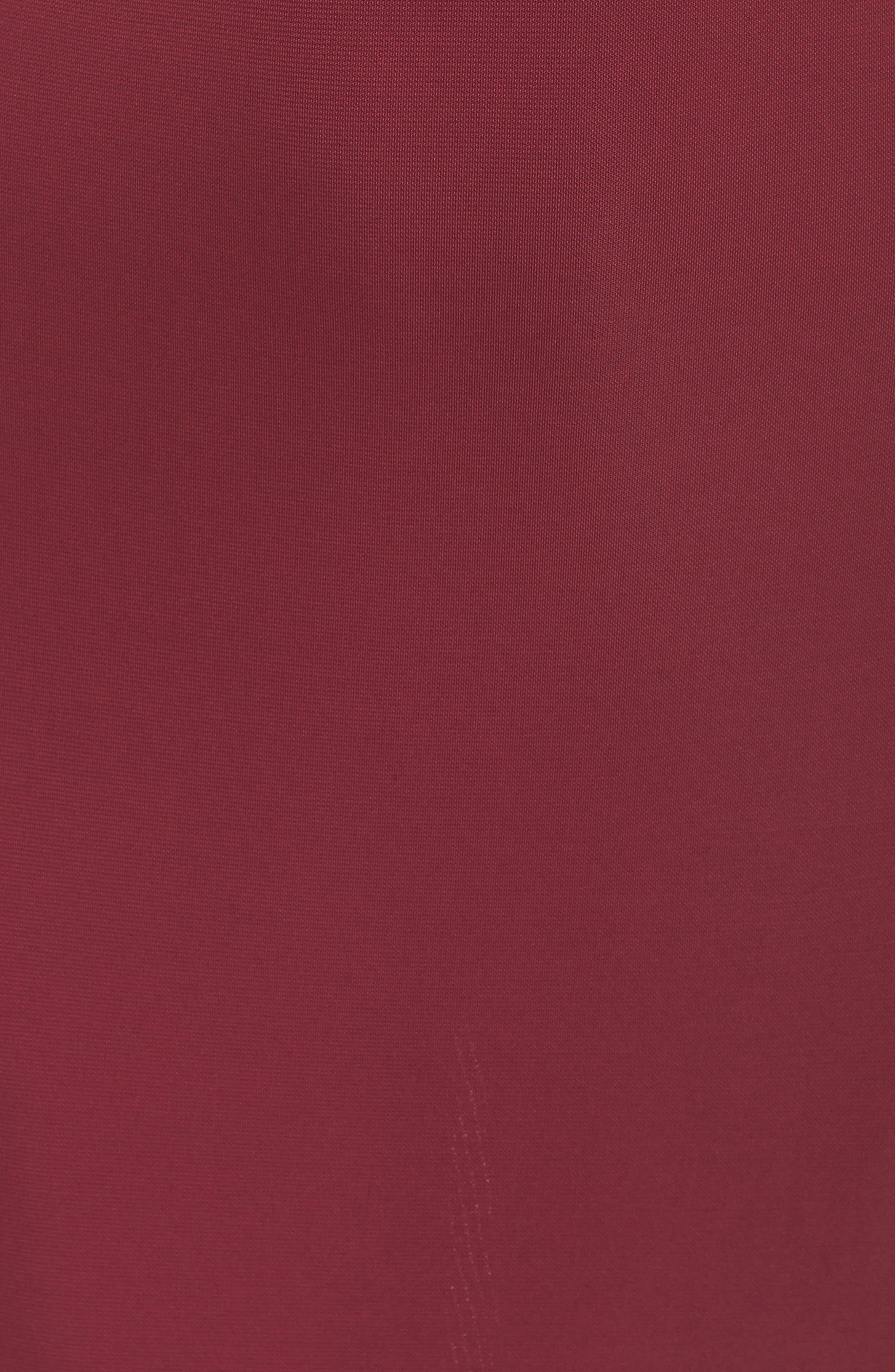 Elise Cowl Neck Sleeveless Dress,                             Alternate thumbnail 6, color,                             BURGUNDY