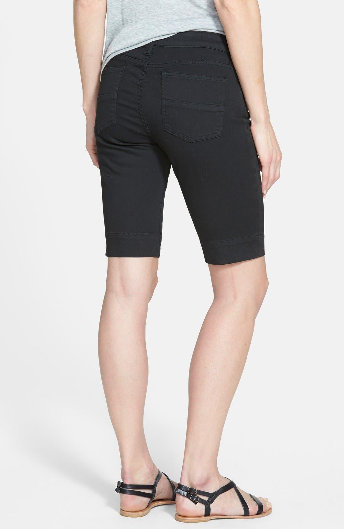 'Natalie' Twill Bermuda Shorts,                             Alternate thumbnail 8, color,                             001