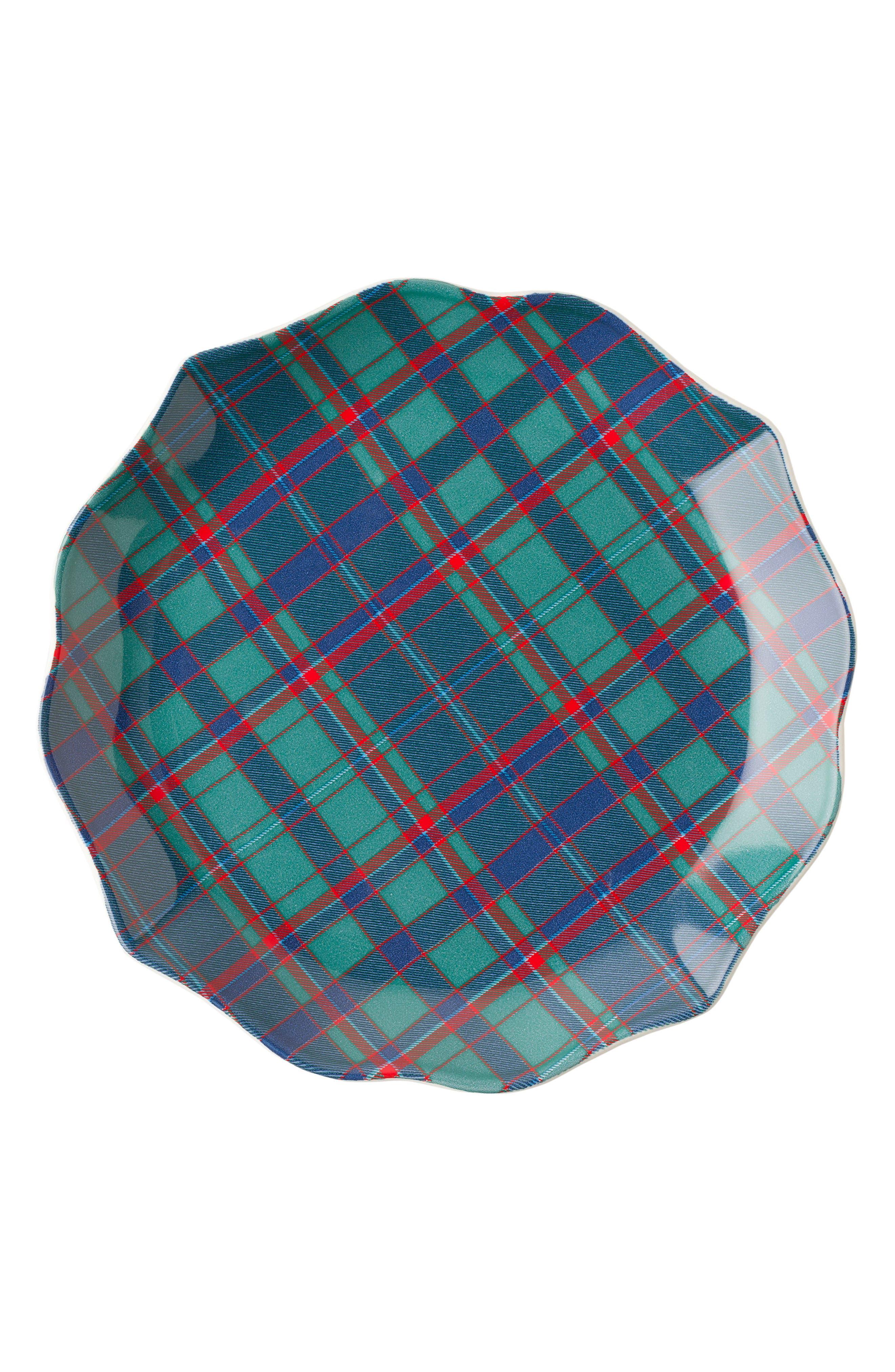 New Traditions - Tartan Tidbit Set of 4 Plates,                             Alternate thumbnail 5, color,                             400