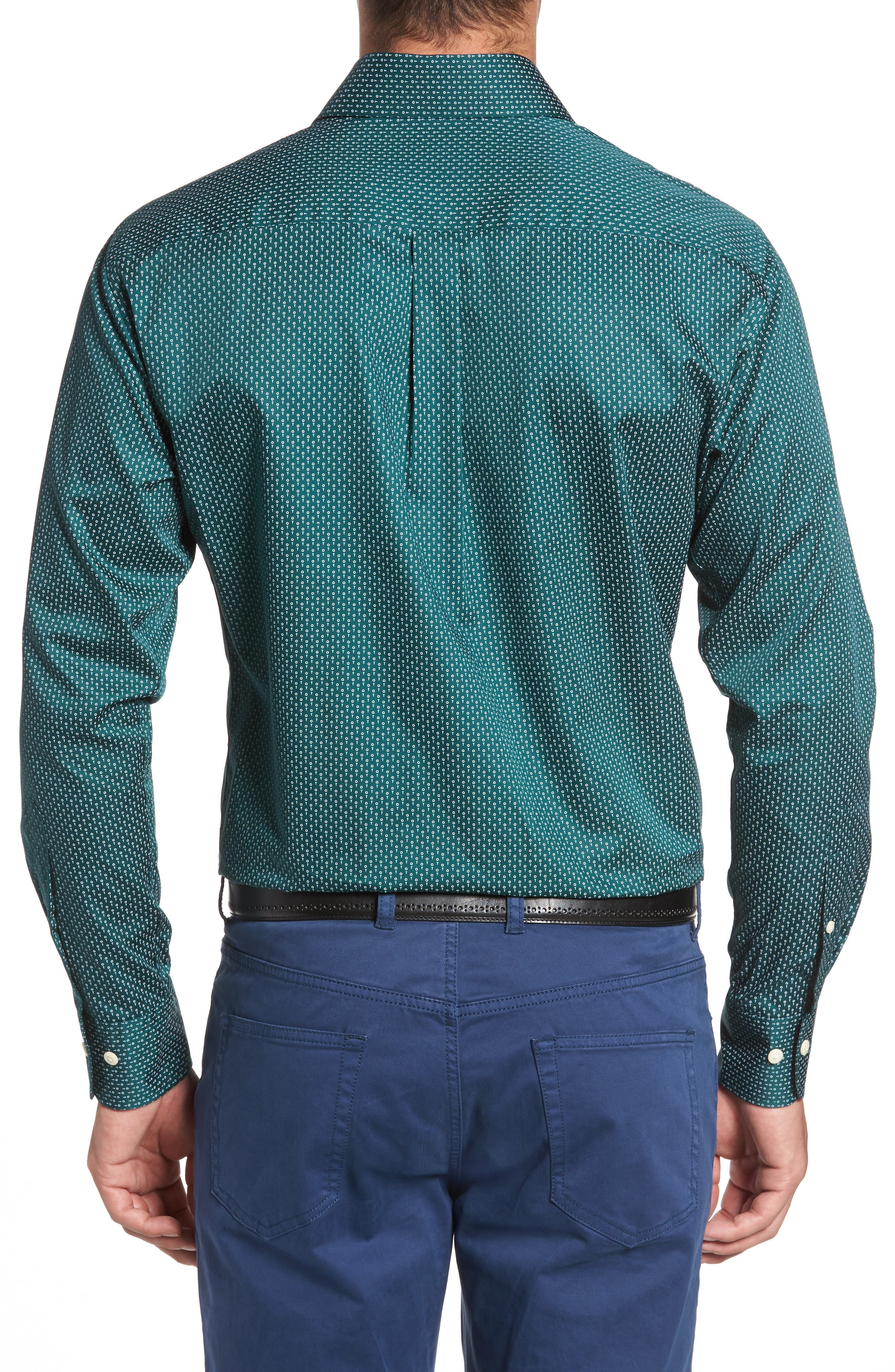 Golf Tee Print Sport Shirt,                             Alternate thumbnail 2, color,