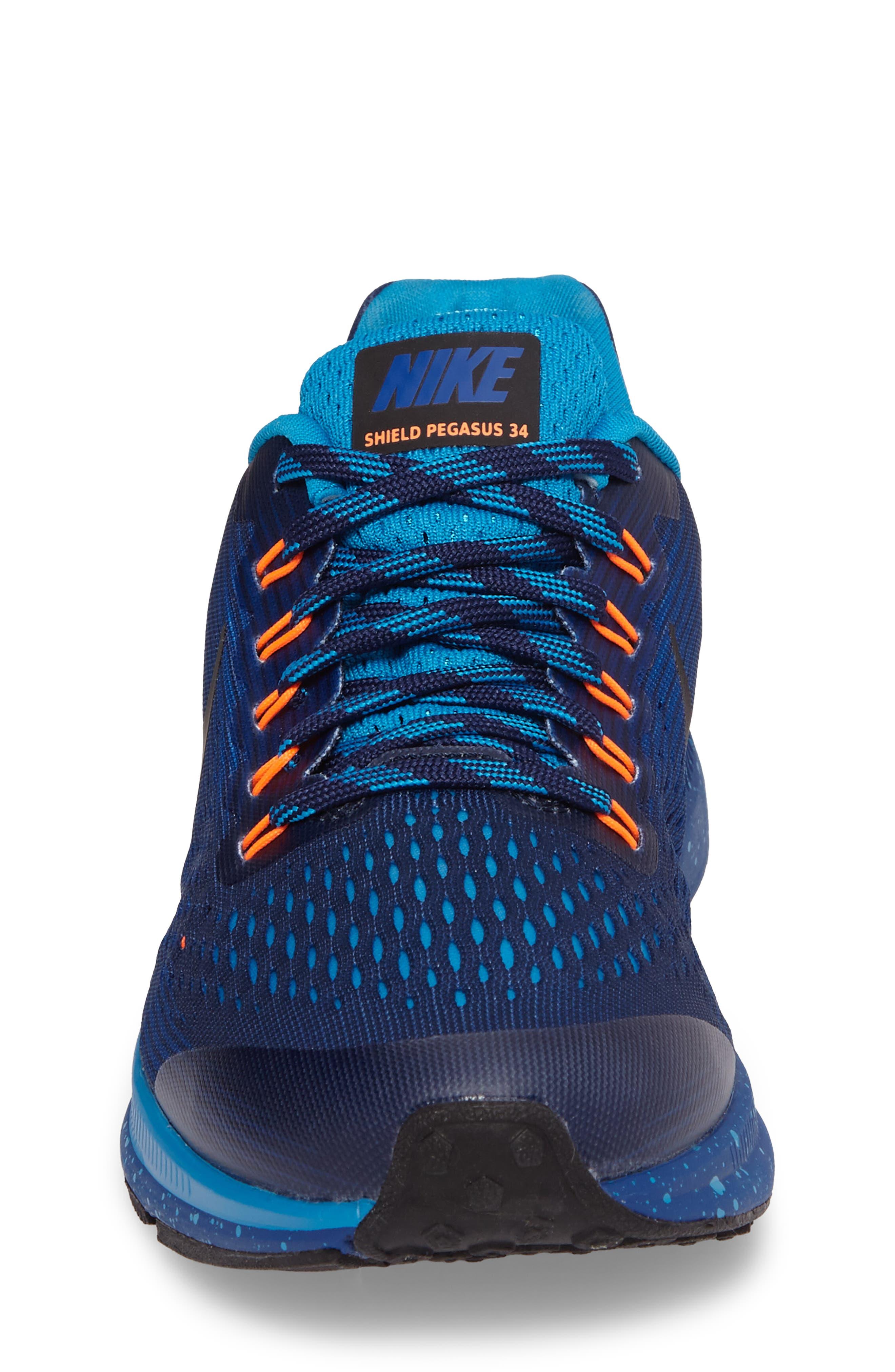 Zoom Pegasus 34 Water Repellent Shield Sneaker,                             Alternate thumbnail 8, color,