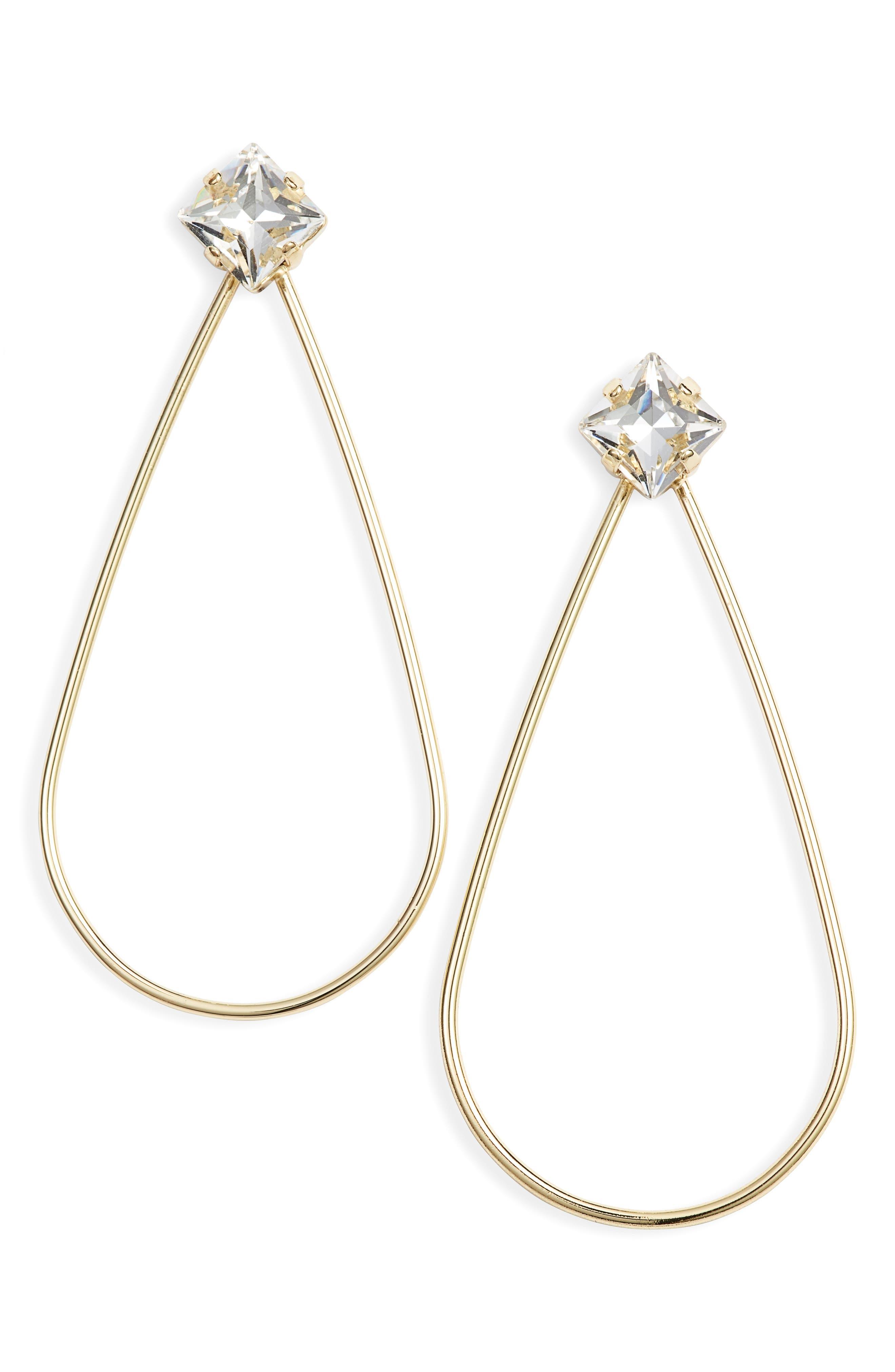 STELLA + RUBY Kathryn Open Teardrop Earrings in Gold